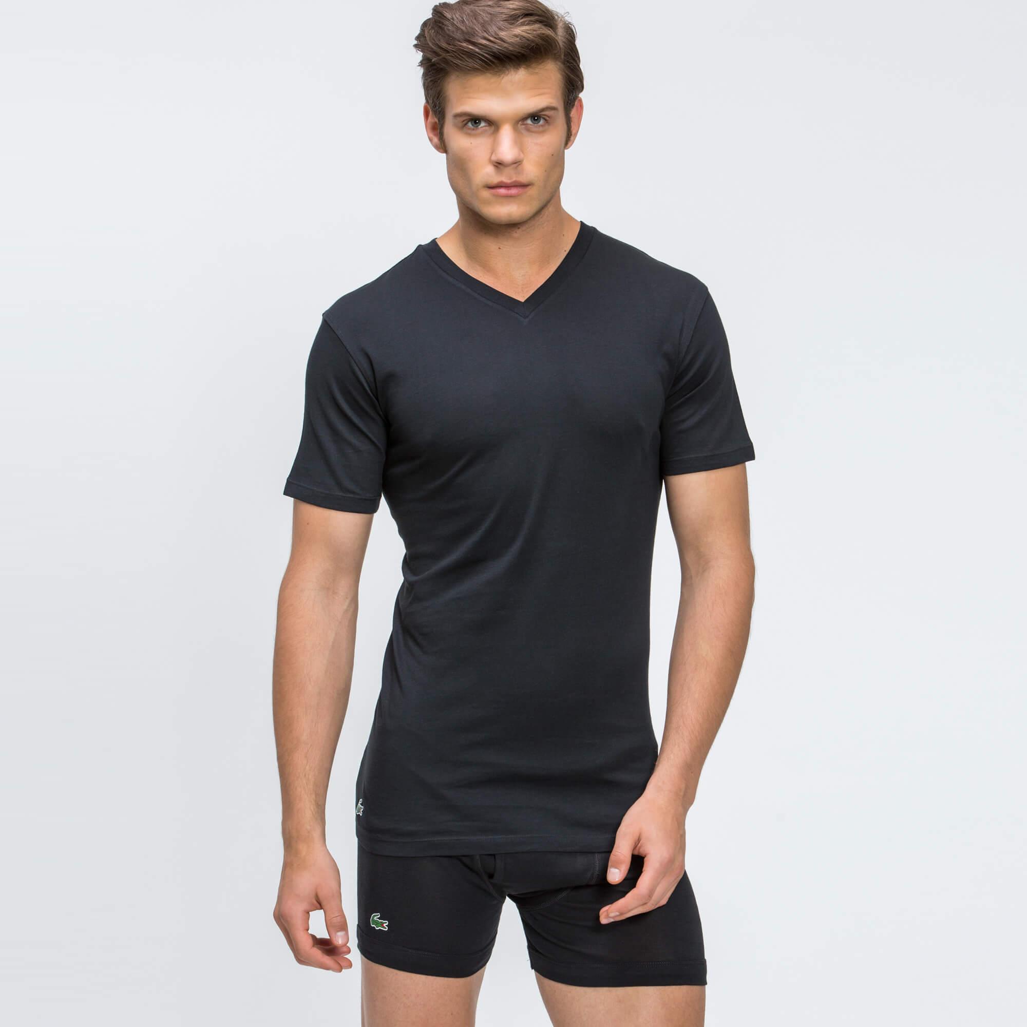 Lacoste Erkek 3'lü Siyah İç Giyim Tshirt
