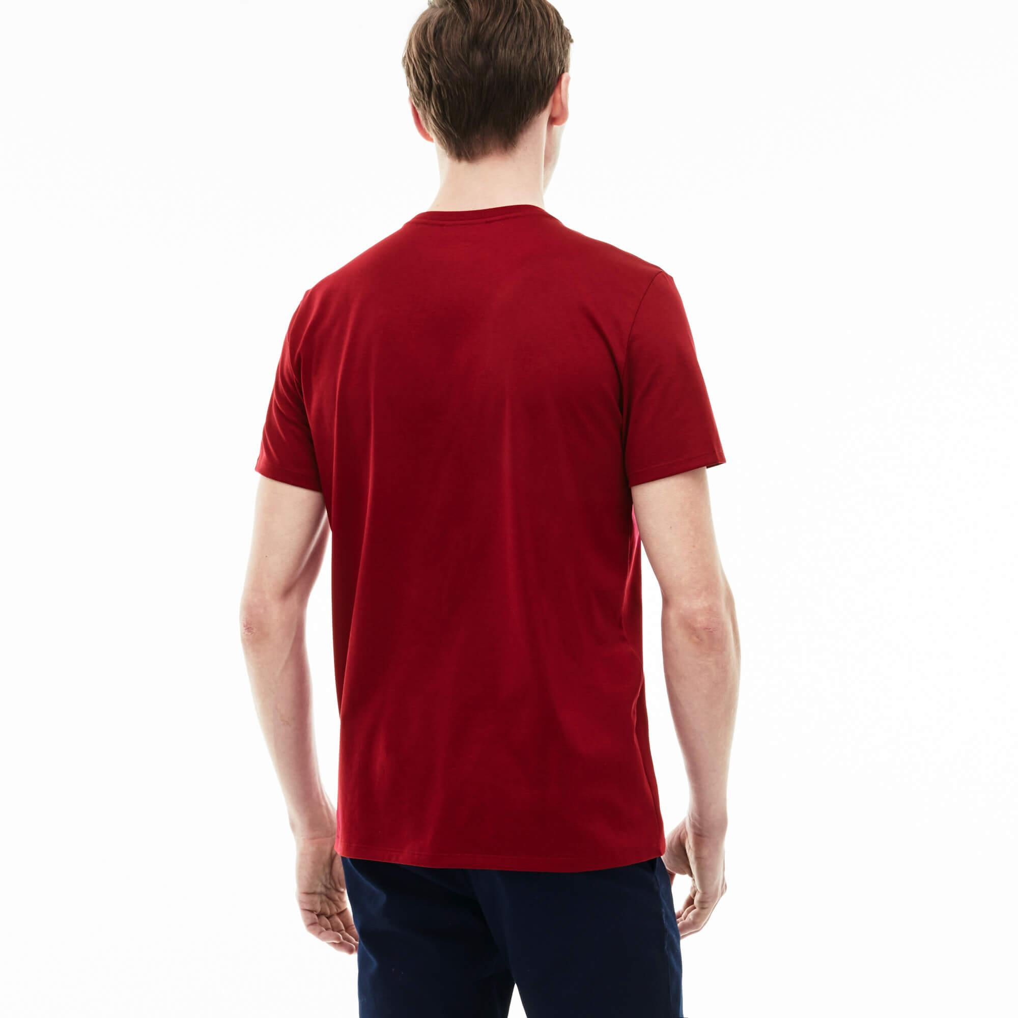 Lacoste Erkek Regular Fit V Yaka Bordo T-Shirt