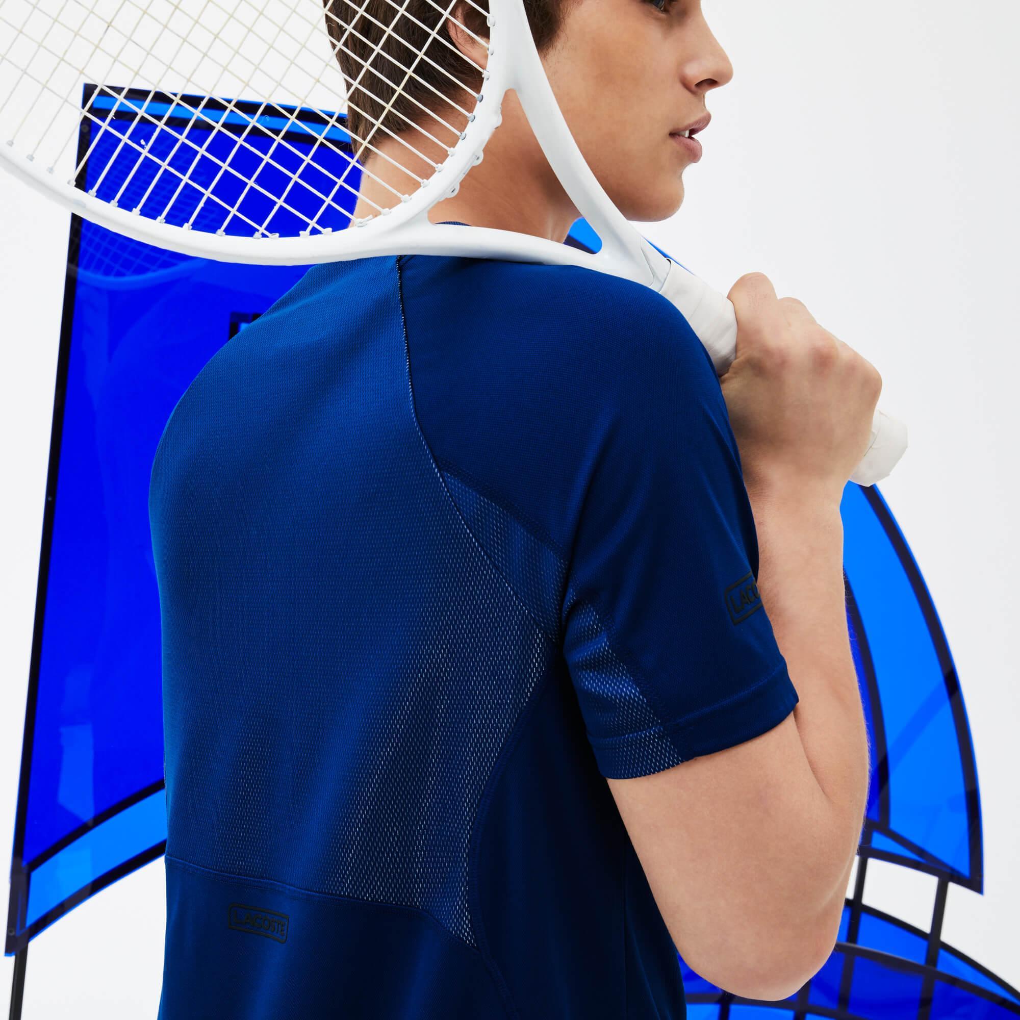 Lacoste Erkek Novak Djokoviç Lacivert T-Shirt