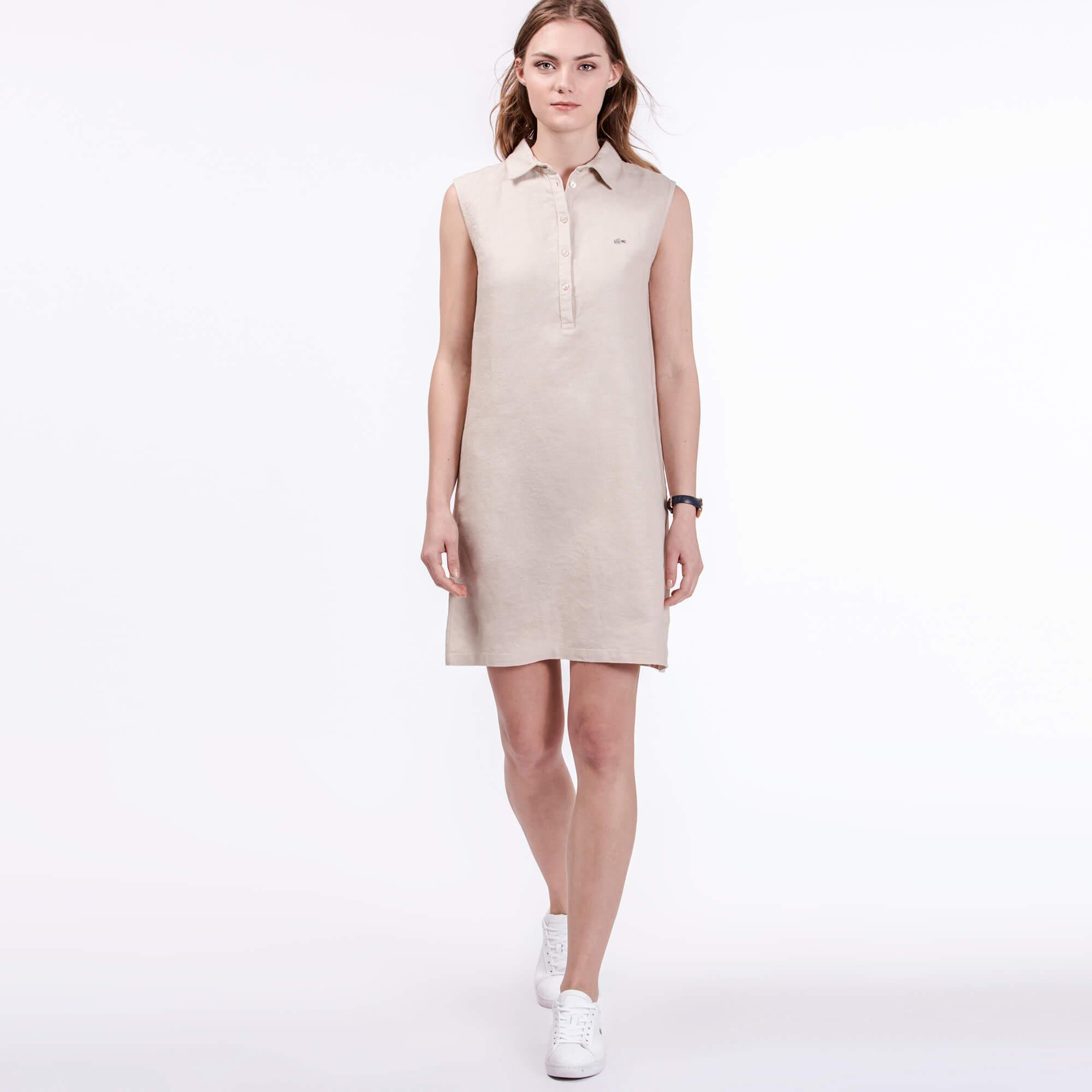 Lacoste Kadın Krem Rengi Elbise