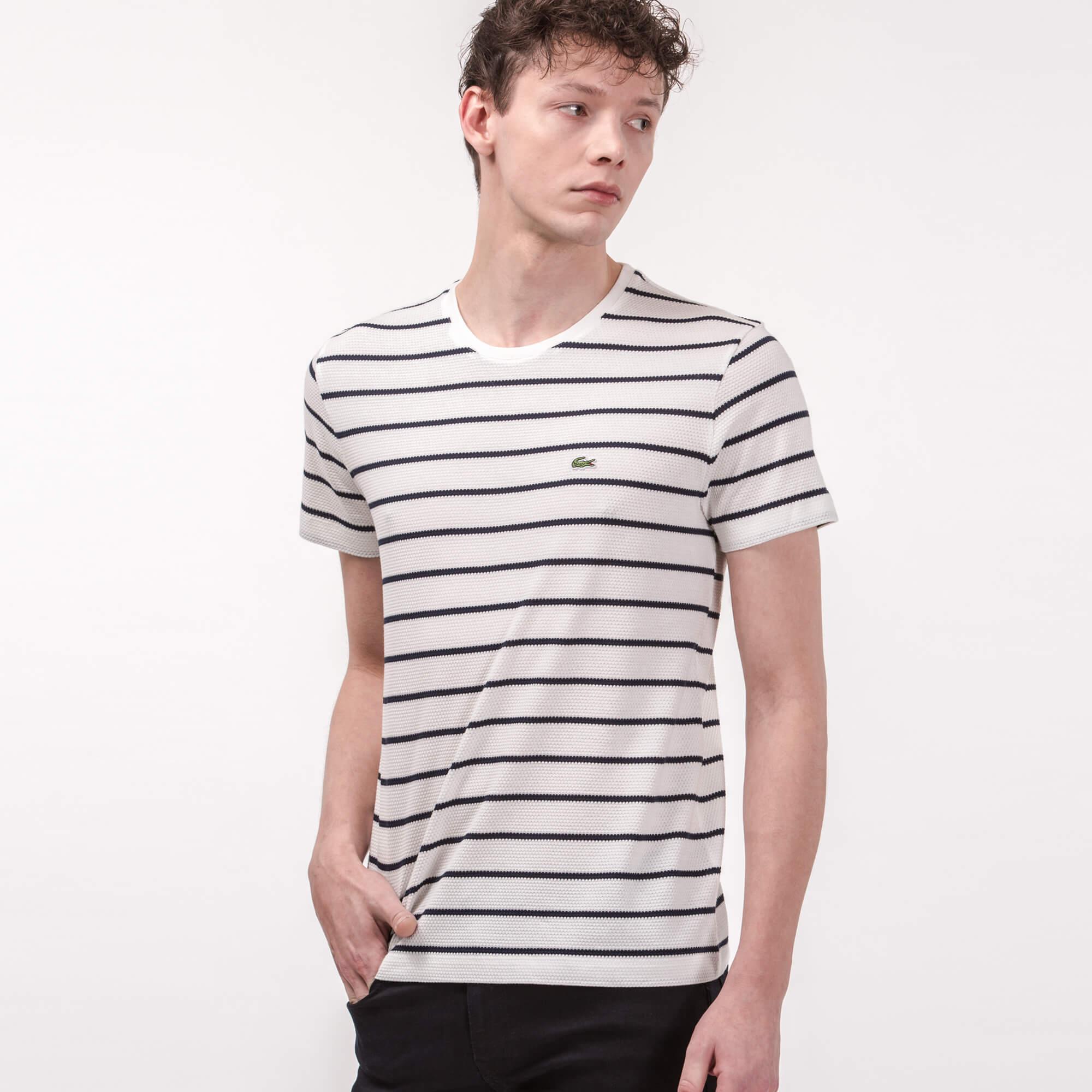 Lacoste Erkek Slim Fit Krem T-Shirt