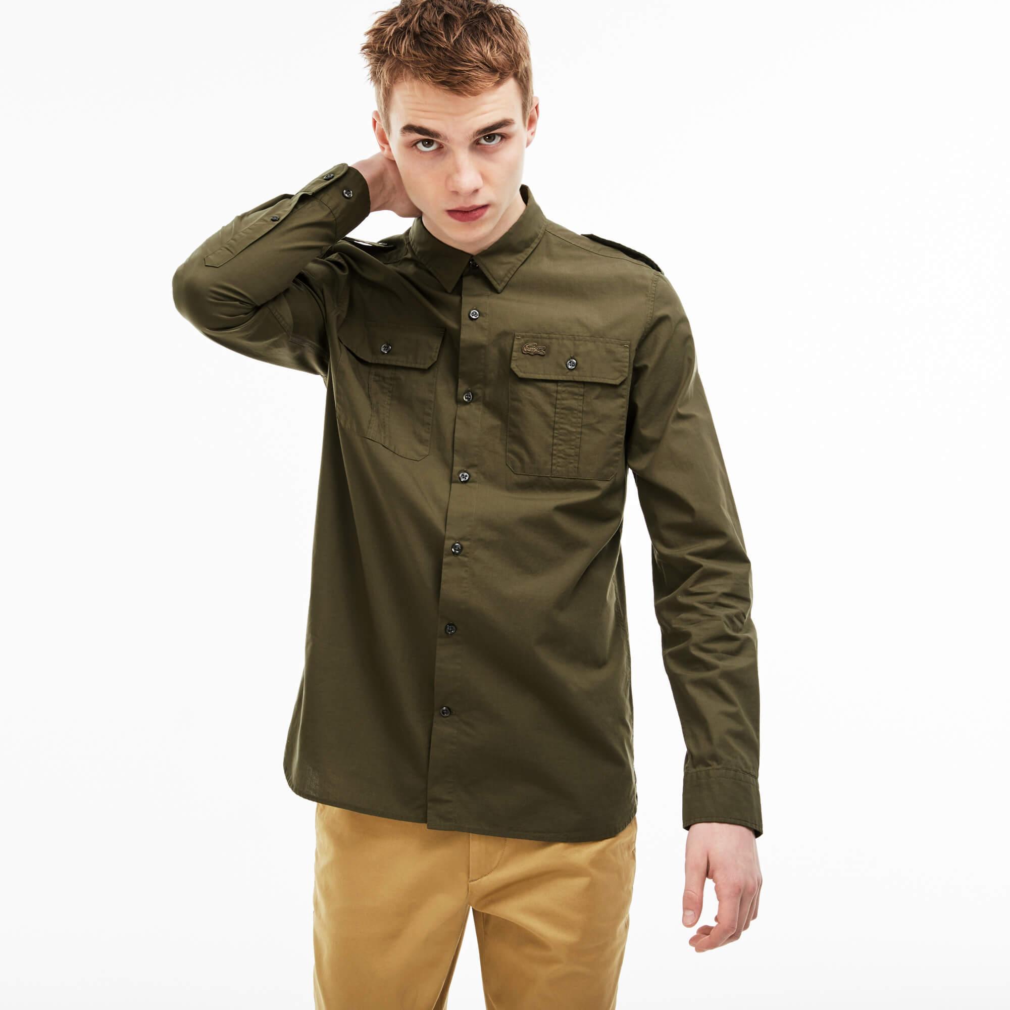 Lacoste Live Erkek Slim Fit Yeşil Gömlek