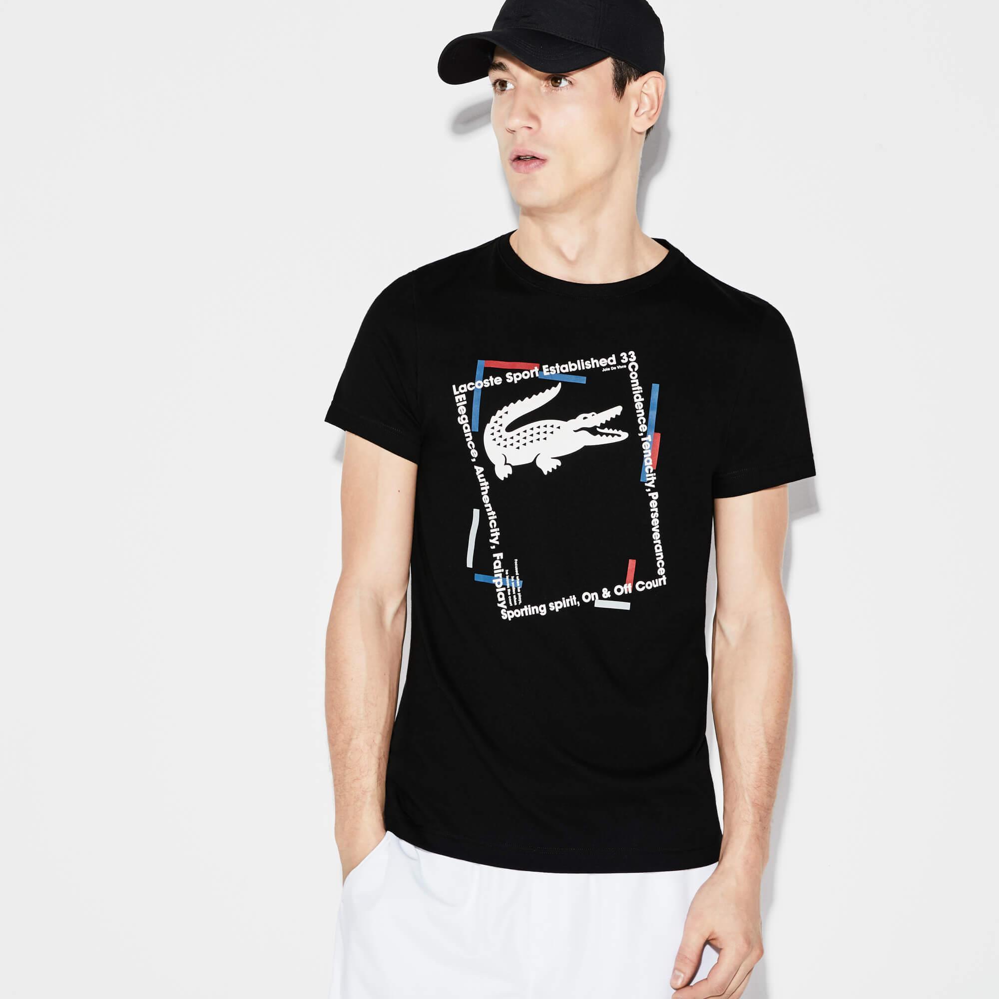 Lacoste Erkek Spor Siyah T-Shirt