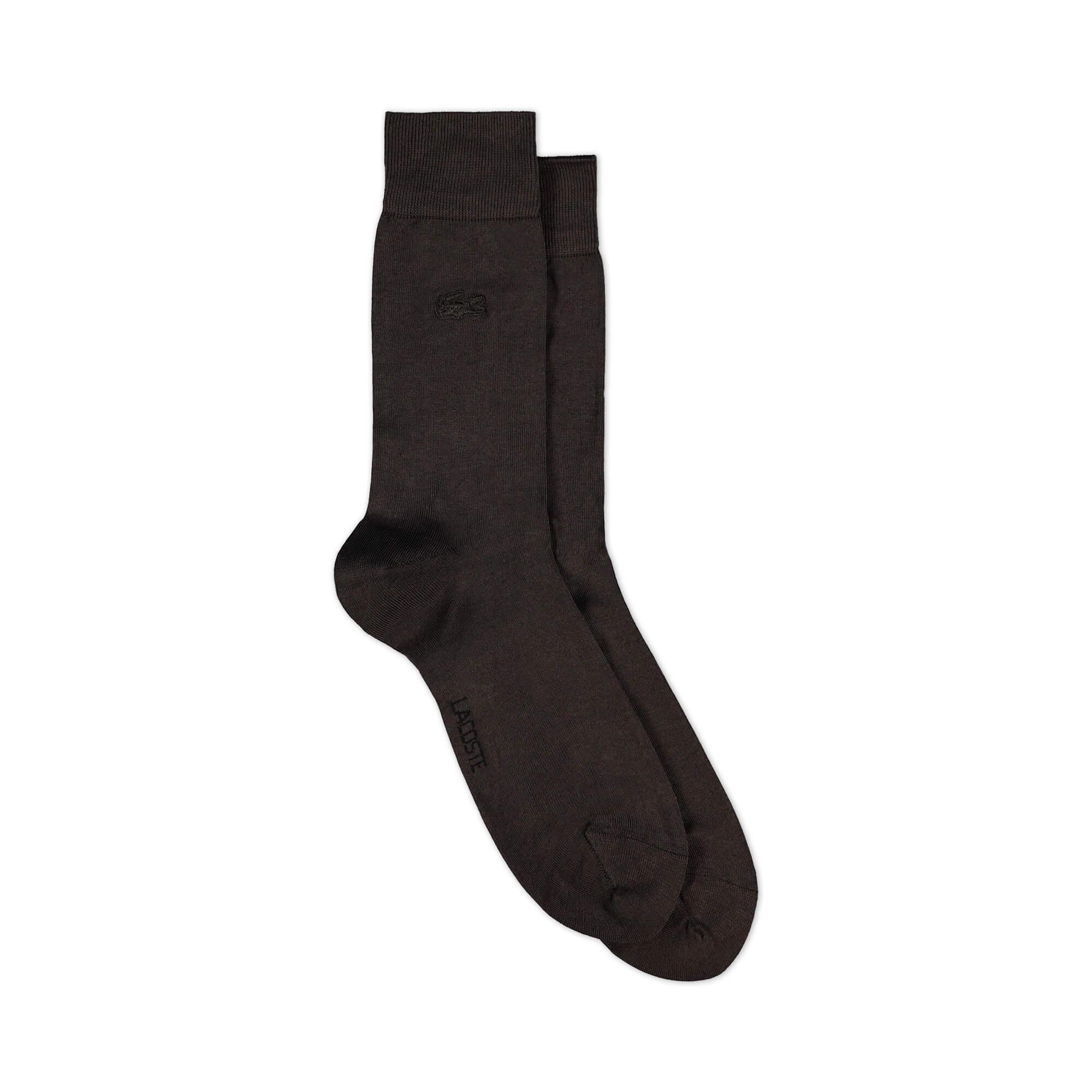 Lacoste Erkek Merserize Kahverengi Çorap