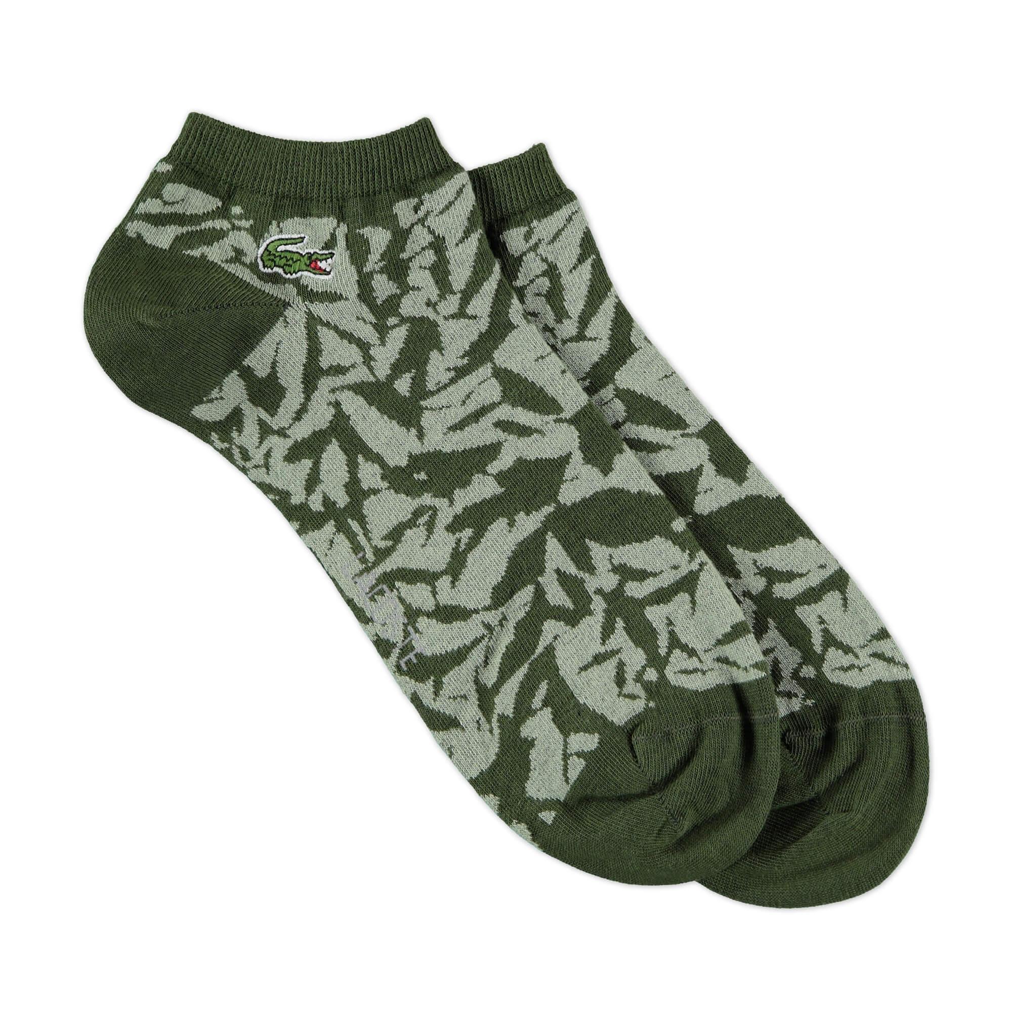 Lacoste Unisex Yeşil Kamuflaj Çorap