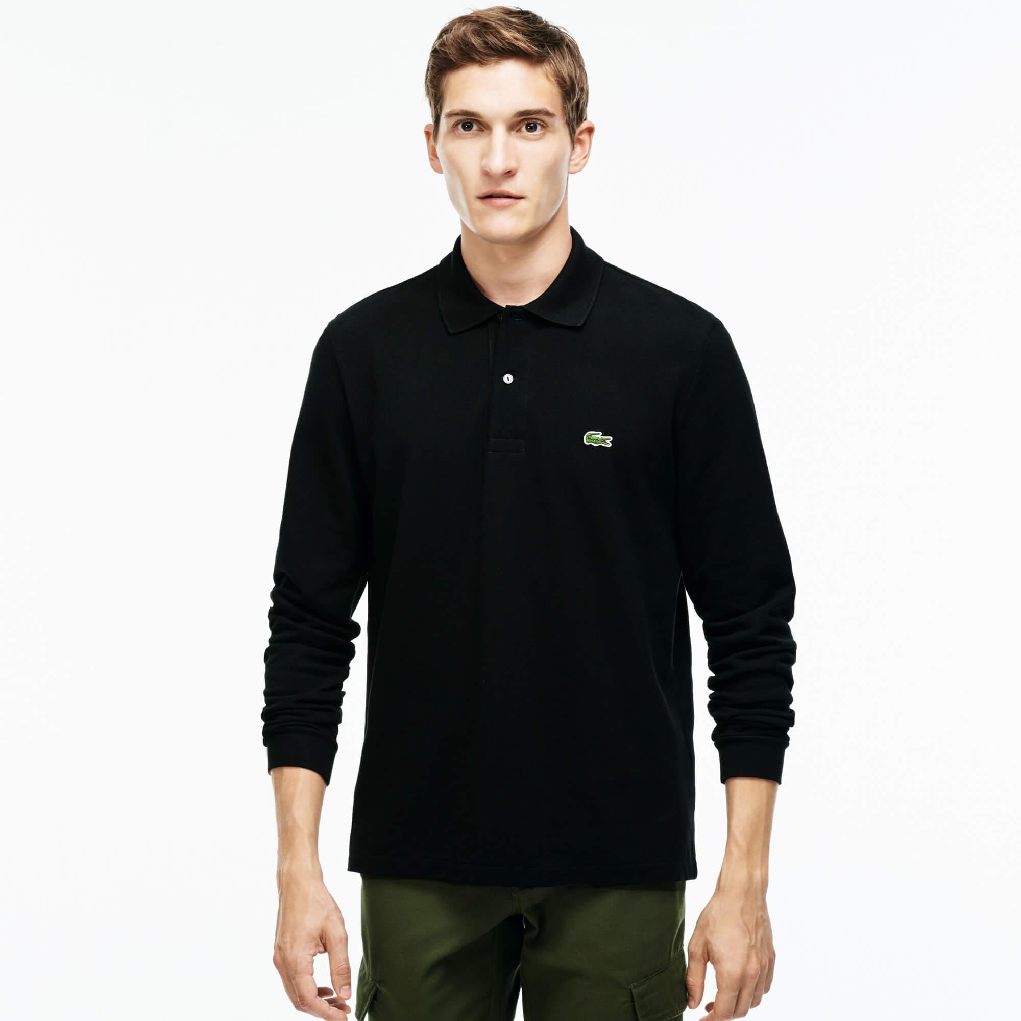 Lacoste Erkek Siyah L1312 Polo T-Shirt