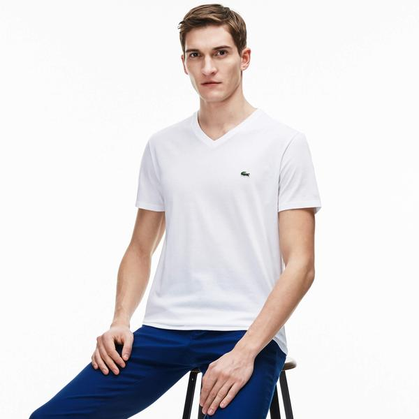 Lacoste Erkek Regular Fit V Yaka T-Shirt