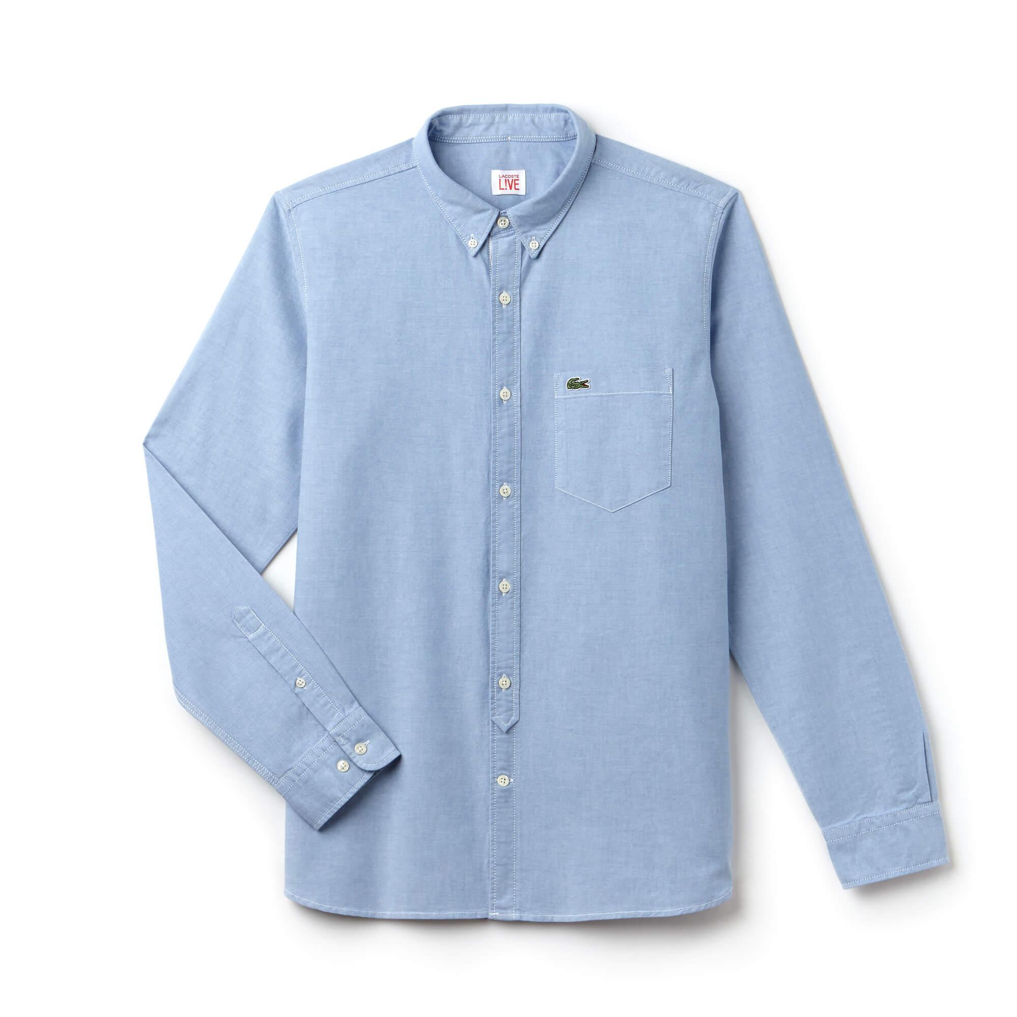 Lacoste Live Erkek Slim Fit Mavi Gömlek