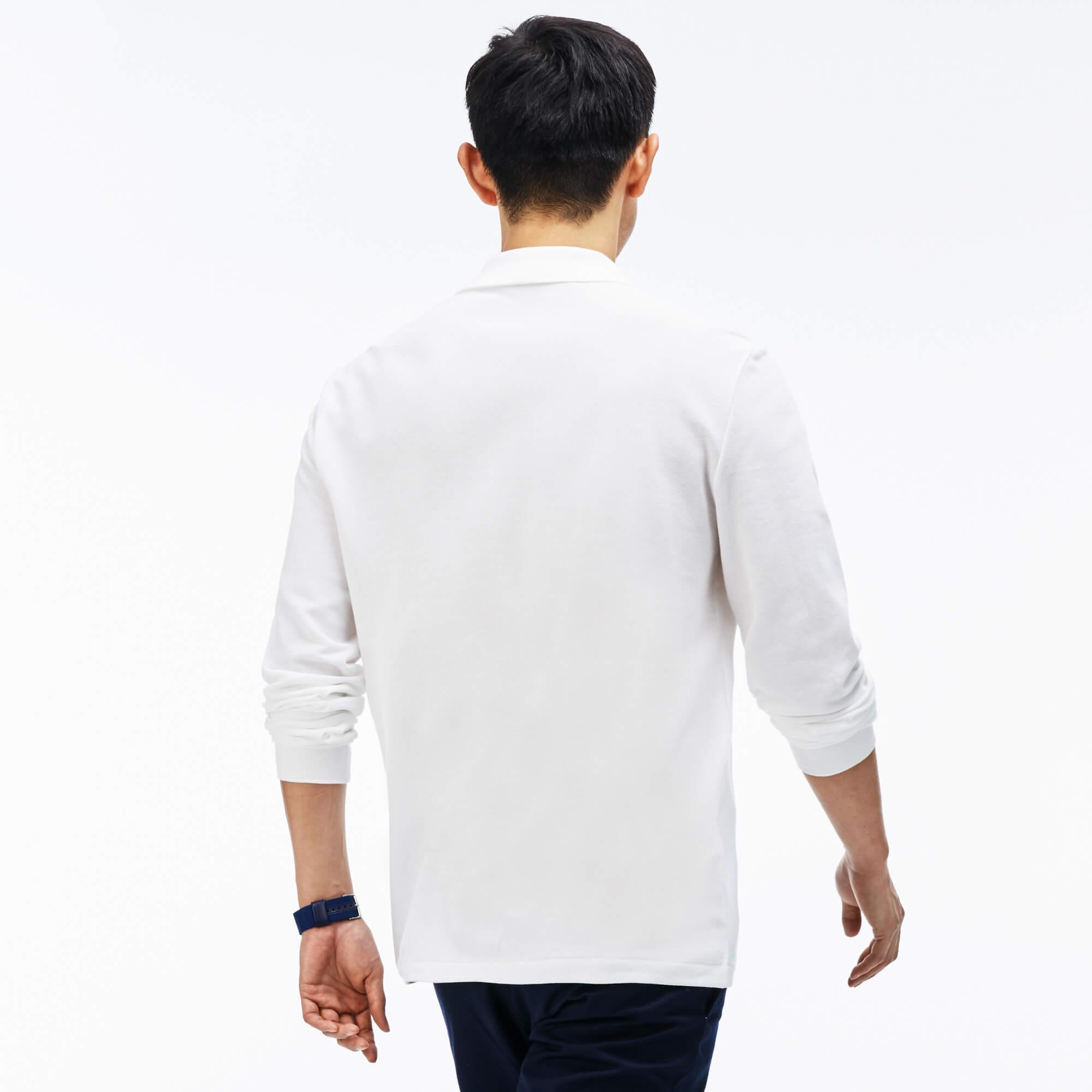 Lacoste Erkek Beyaz L1312 Polo T-Shirt