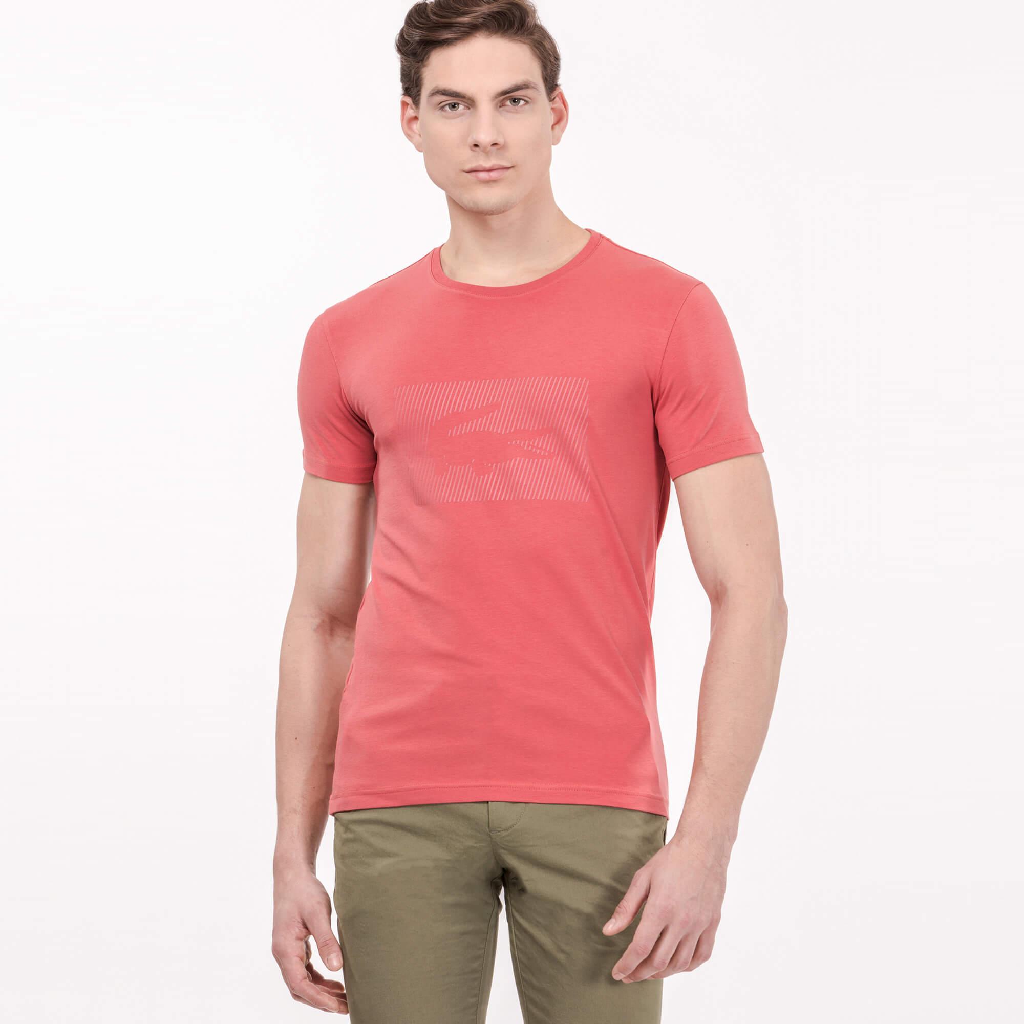 Lacoste Erkek Slim Fit Pembe T-Shirt