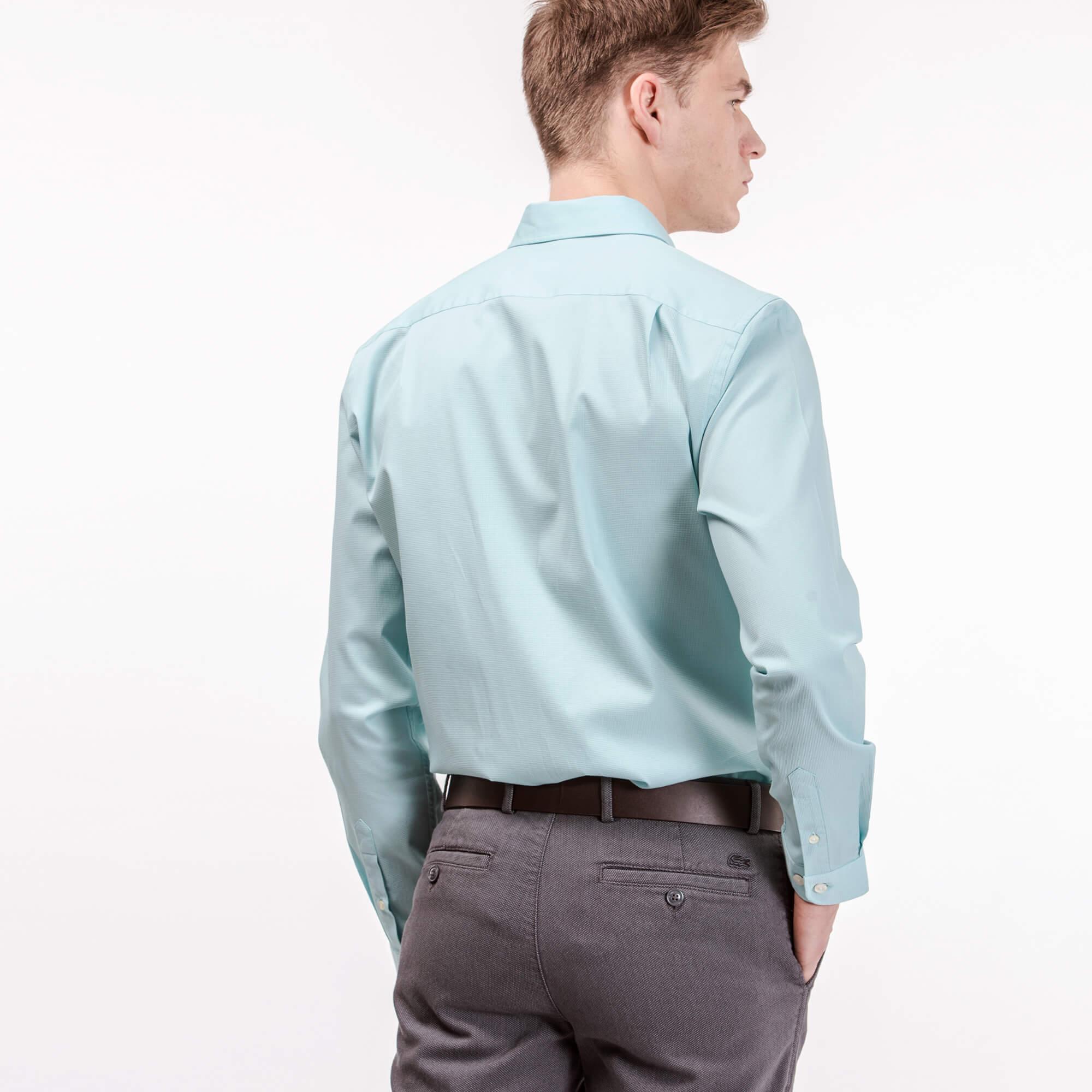 Lacoste Erkek Slim Fit Su Yeşili Gömlek