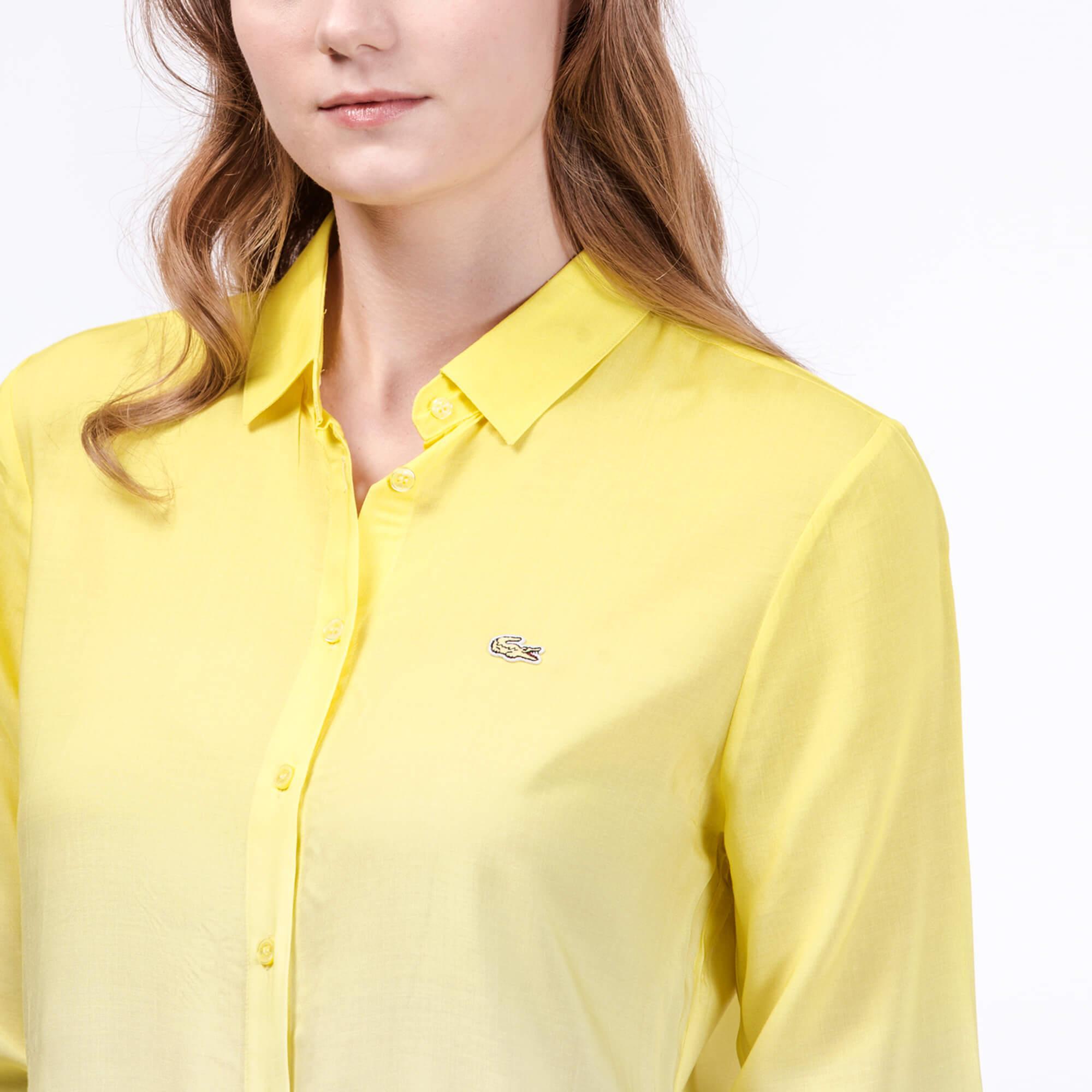 Lacoste Kadın Sarı Ombre Gömlek