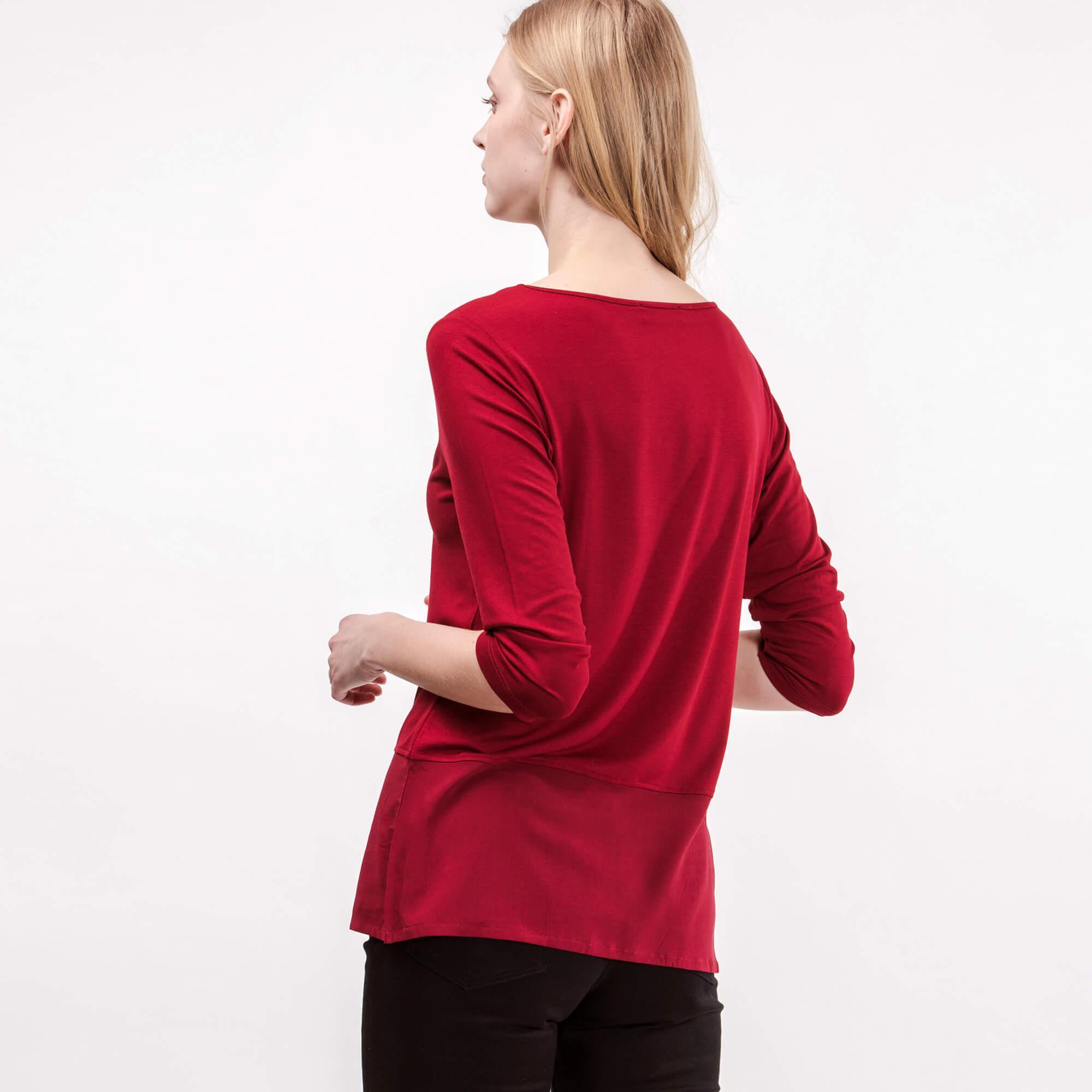 Lacoste Kadın Bordo V Yaka T-Shirt