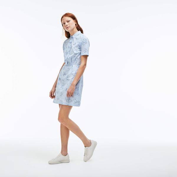 Lacoste Live Kadın Mavi Elbise