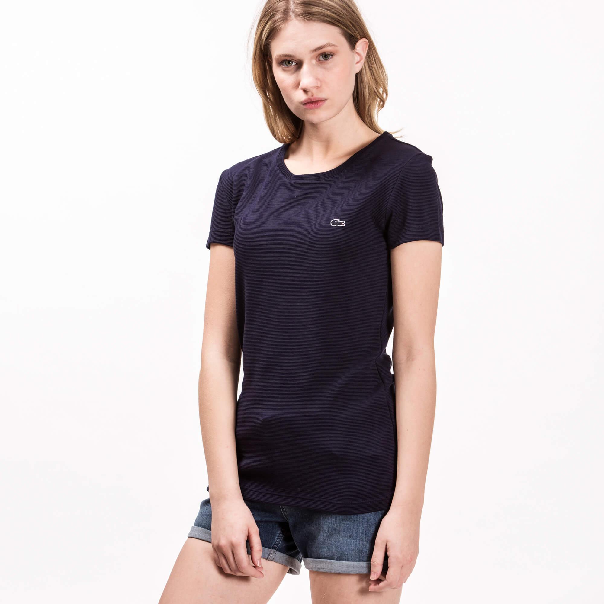 Lacoste Kadın Lacivert T-Shirt