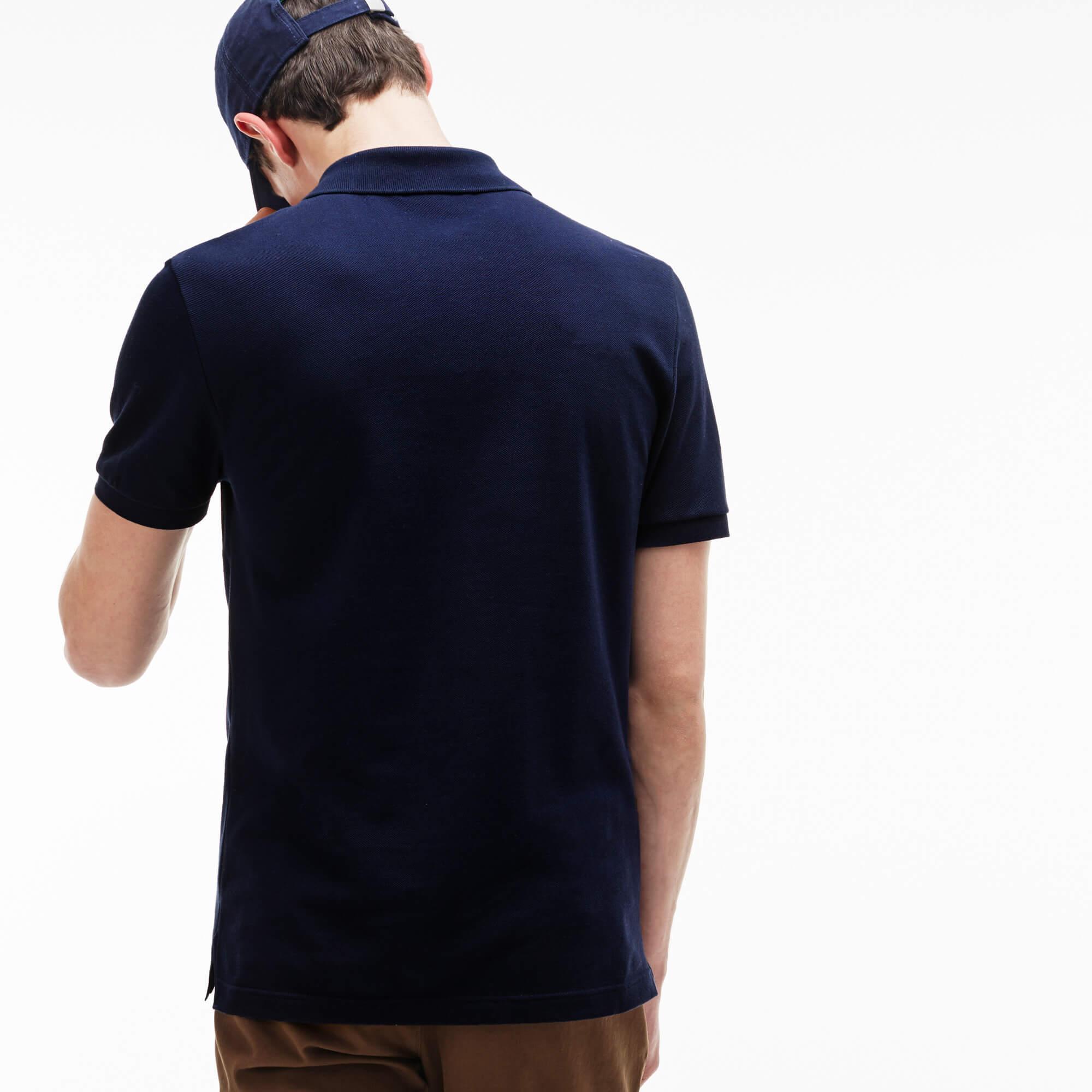 Lacoste Erkek Lacivert Slim Fit Polo