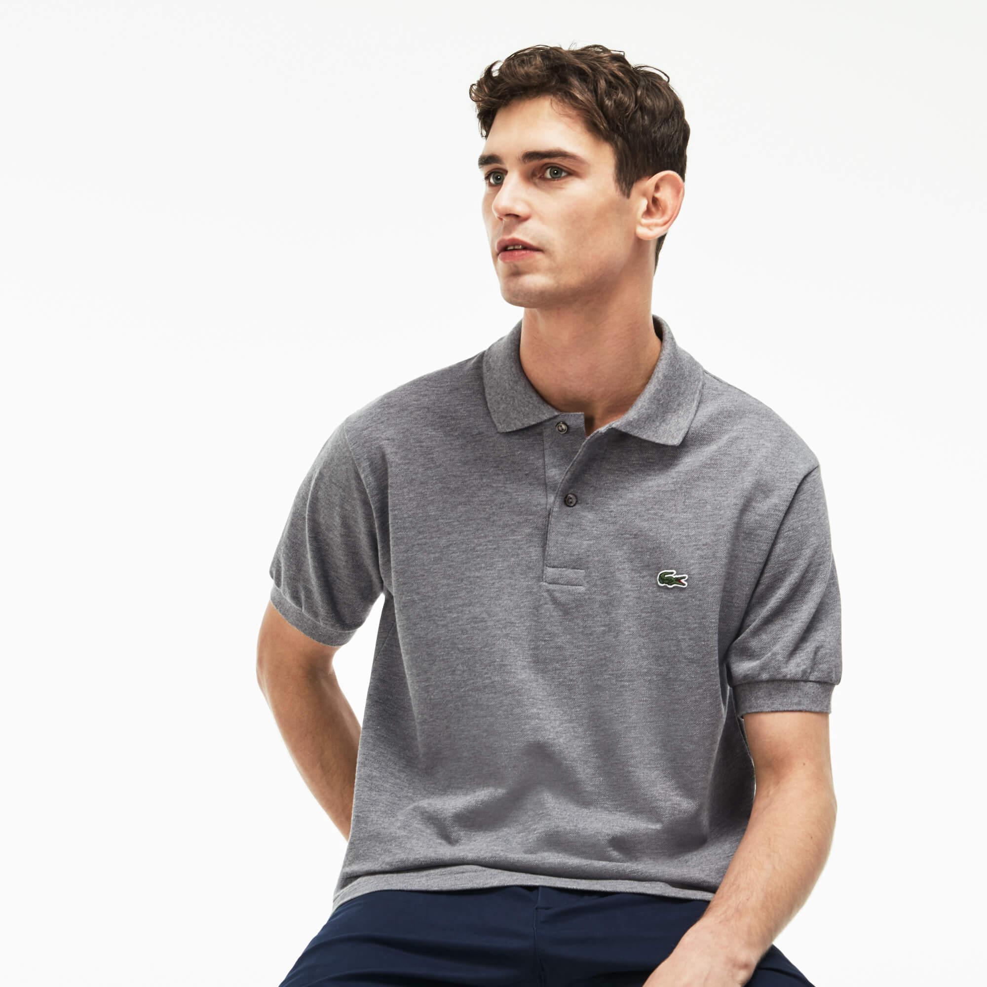 Lacoste Erkek Gri Polo T-Shirt