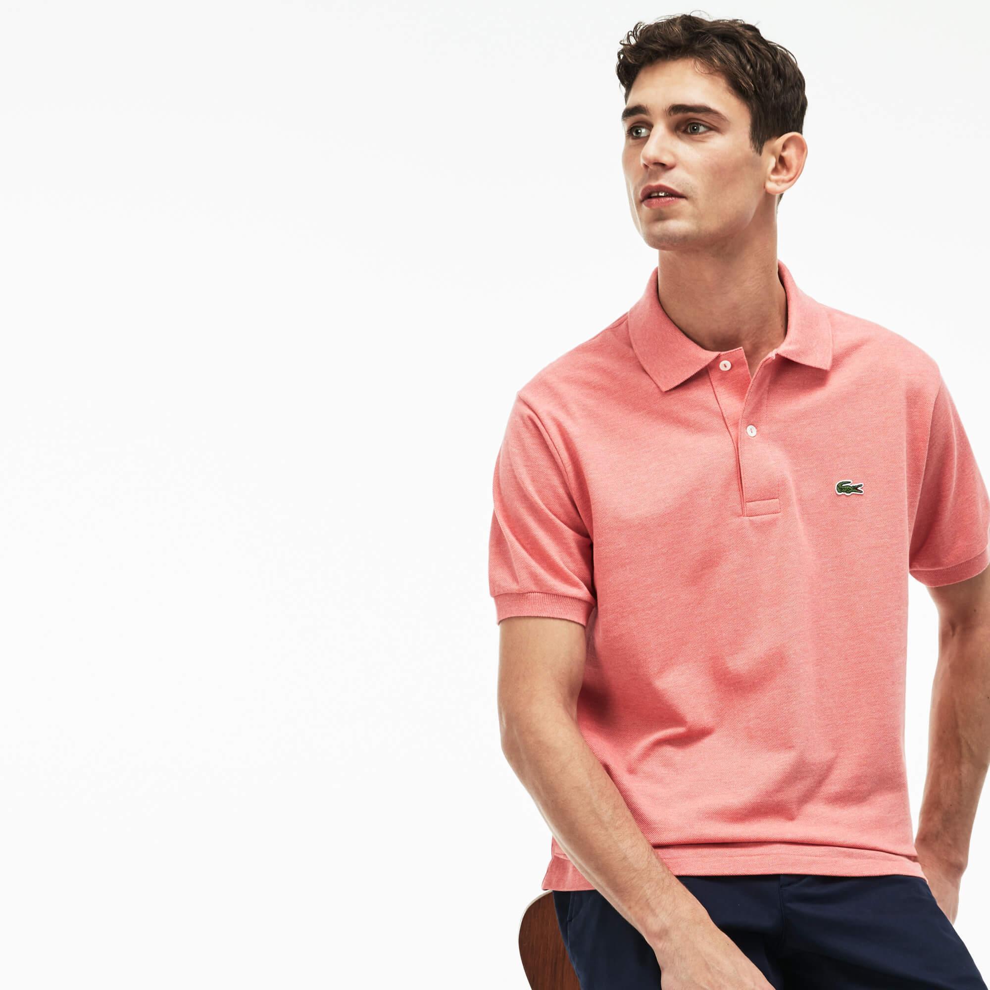 Lacoste Erkek Pembe Polo T-Shirt