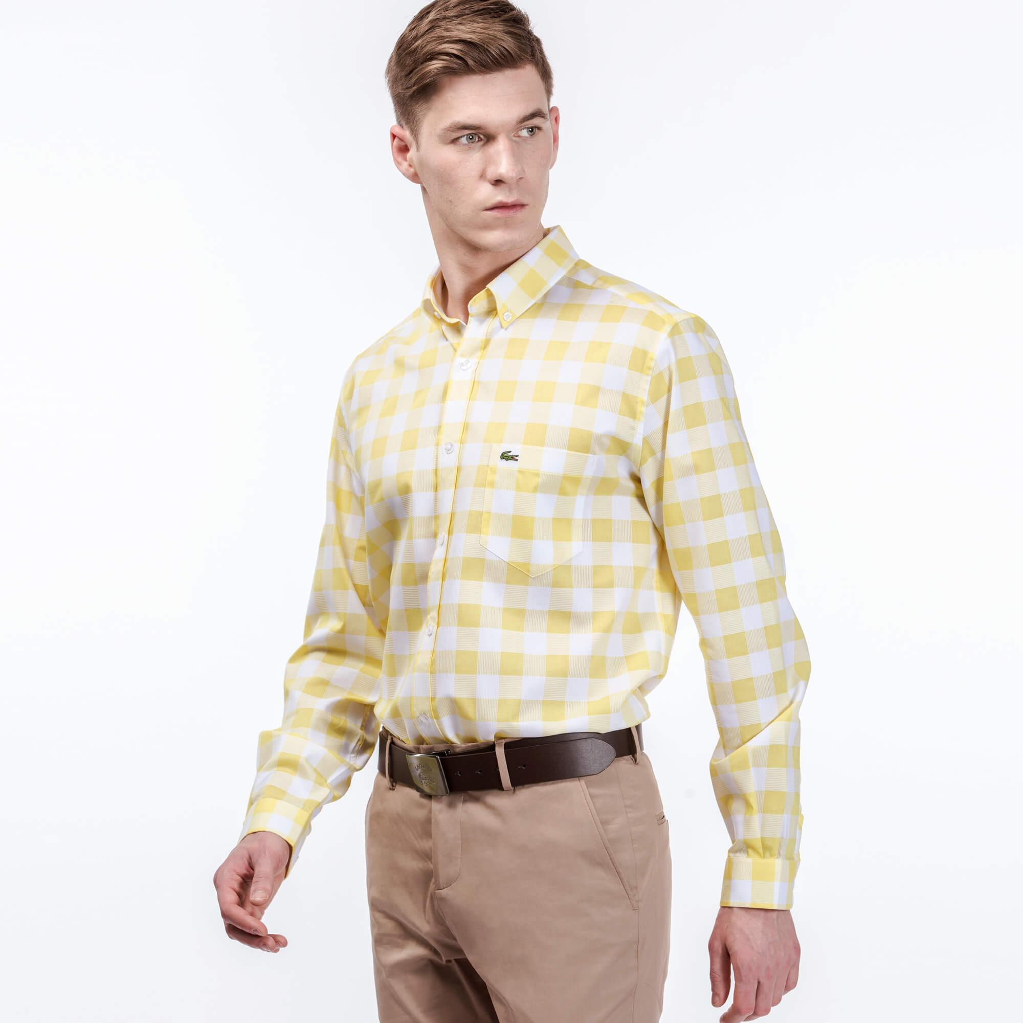 Lacoste Erkek Regular Fit Sarı Gömlek