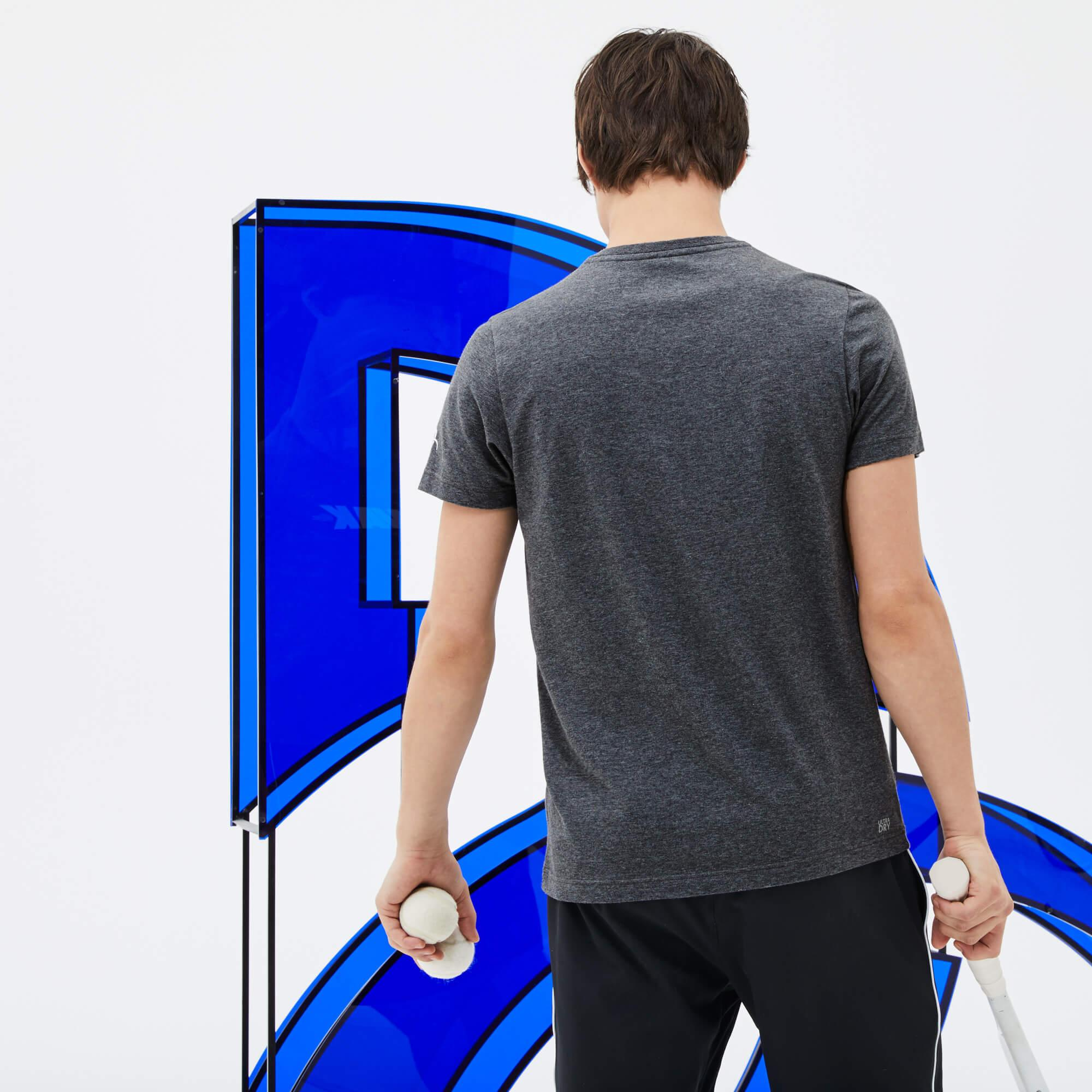 Lacoste Erkek Novak Djokoviç Gri T-Shirt