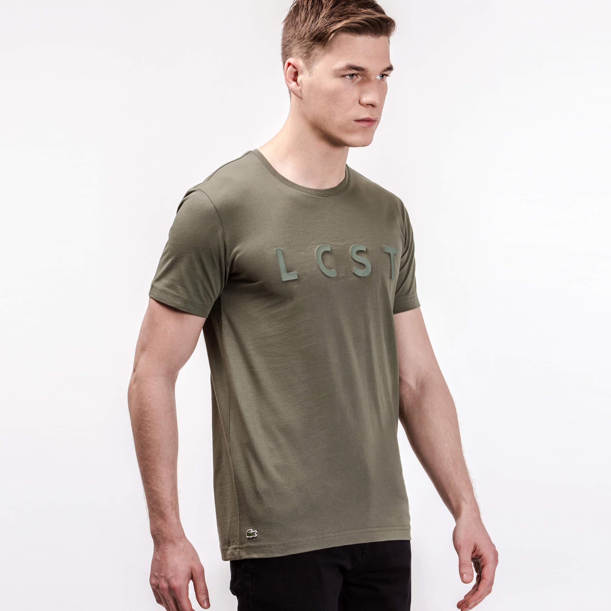 Lacoste Erkek Slim Fit Haki T-Shirt