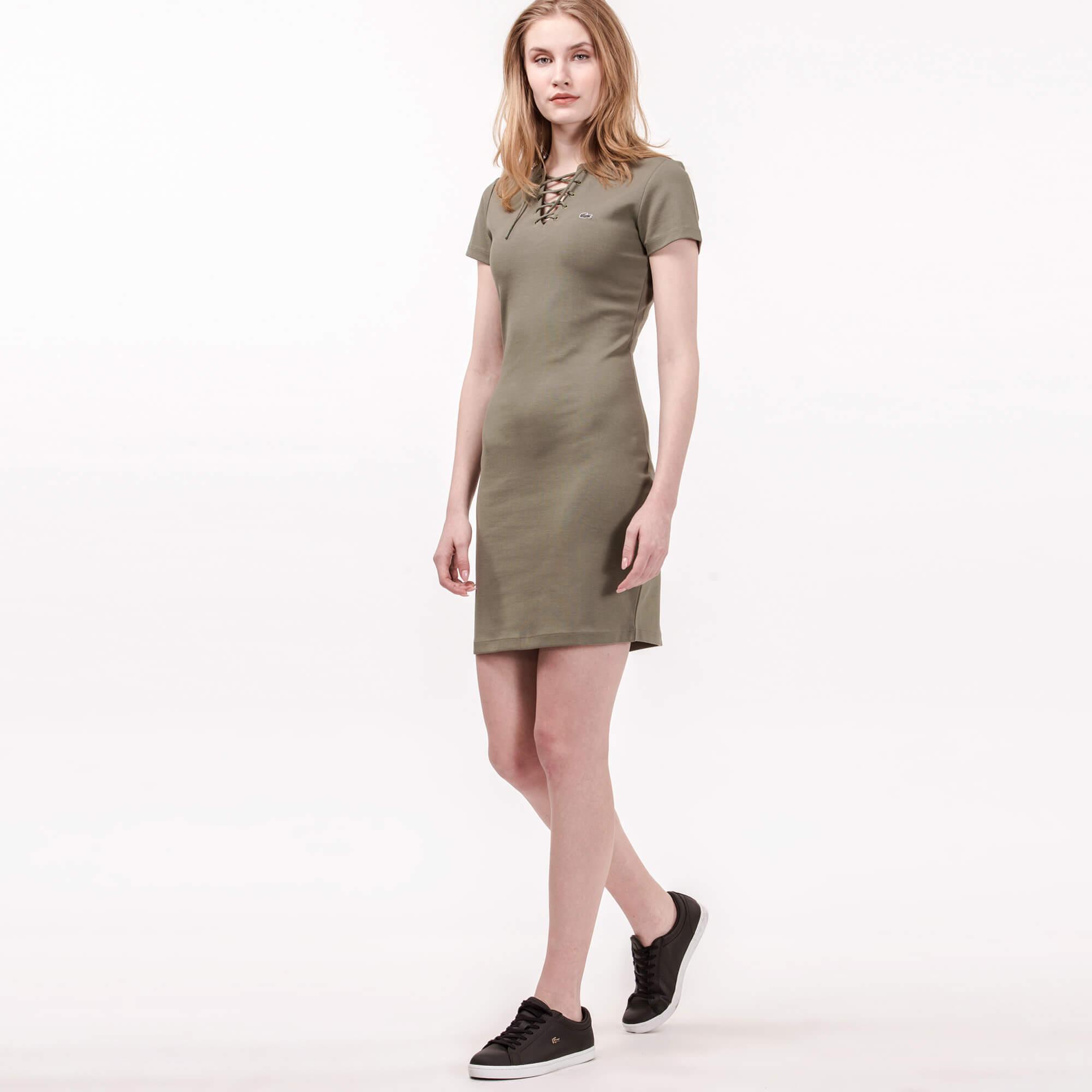 Lacoste Kadın Haki Elbise