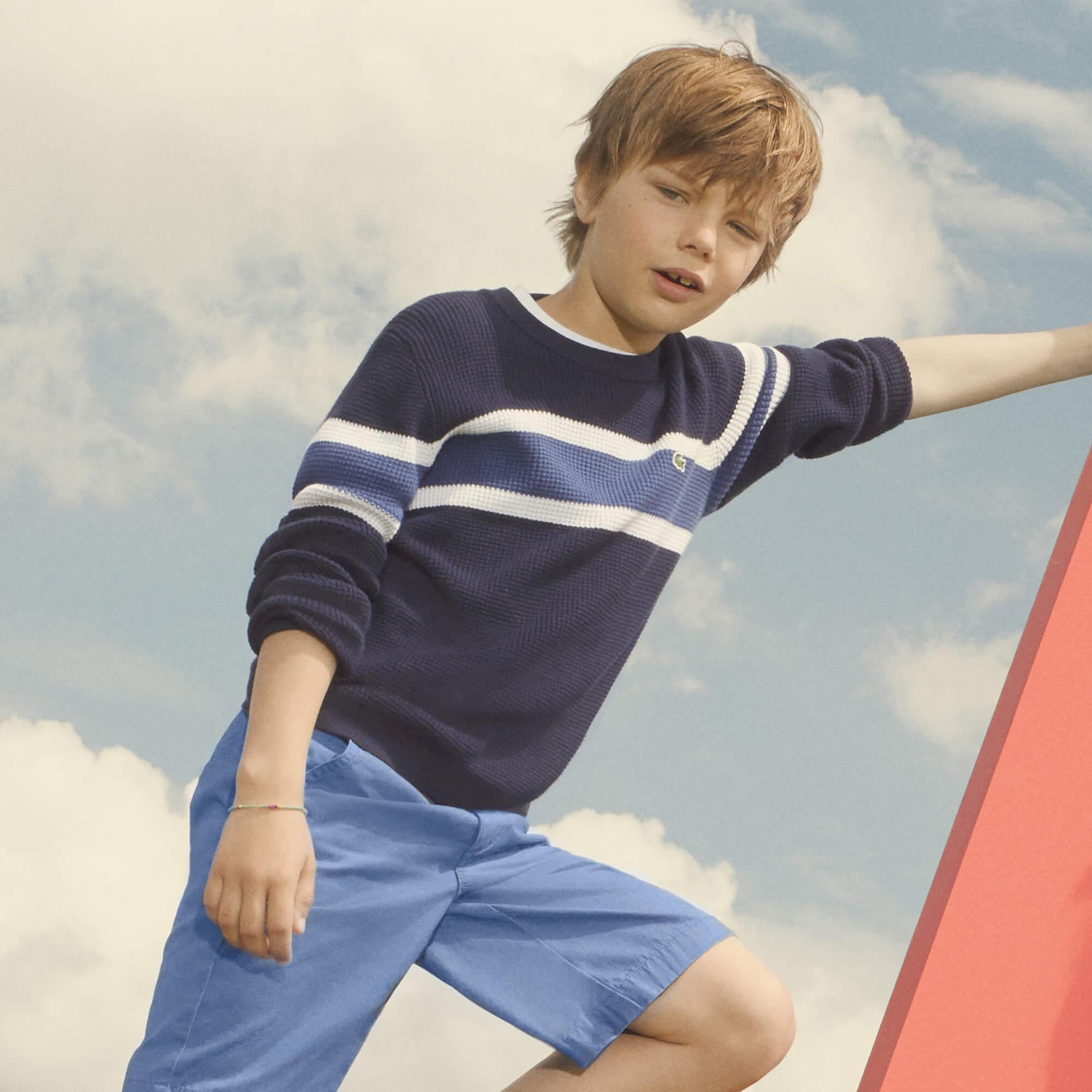 Lacoste Erkek Çocuk Lacivert Triko Kazak