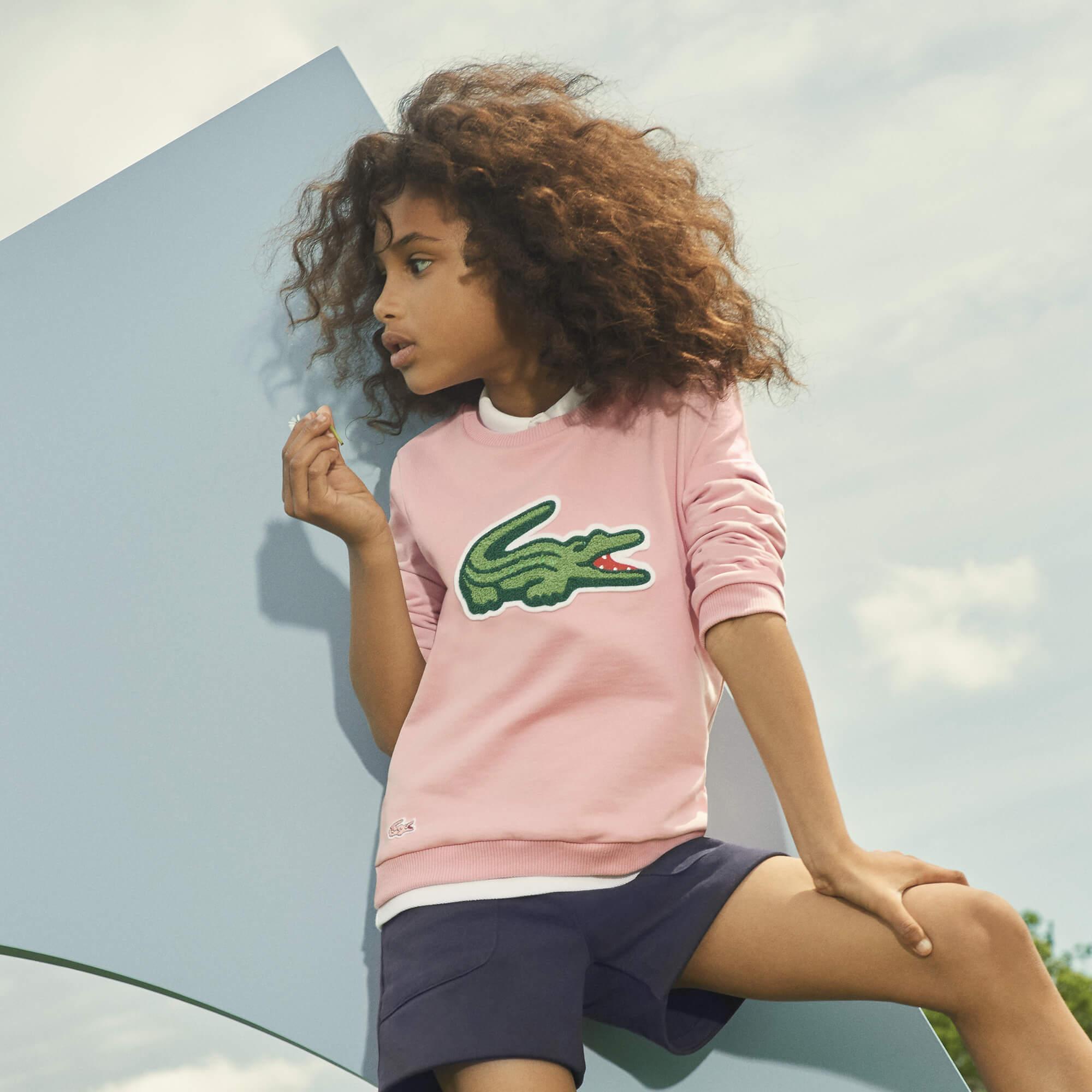 Lacoste Kız Çocuk Pembe Sweatshirt