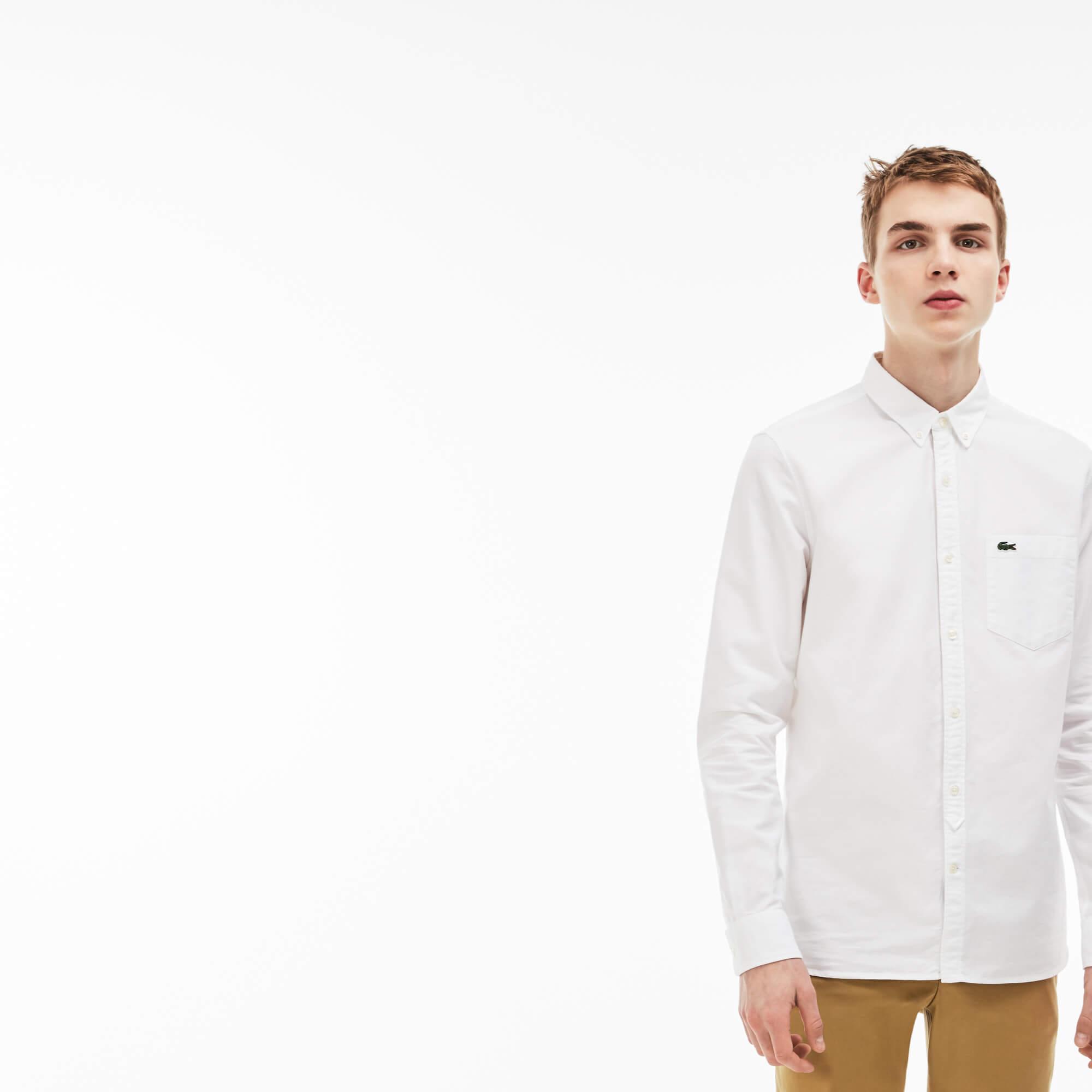 Lacoste Live Slim Fit Beyaz Gömlek