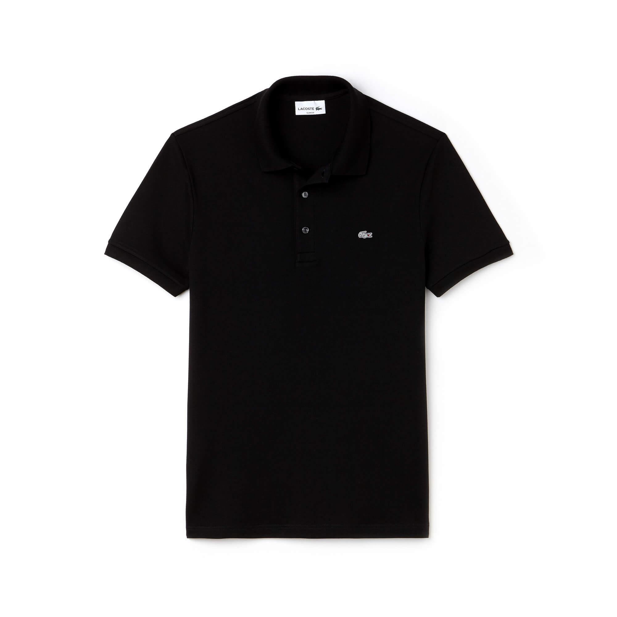 Lacoste Erkek Siyah Slim Fit Polo