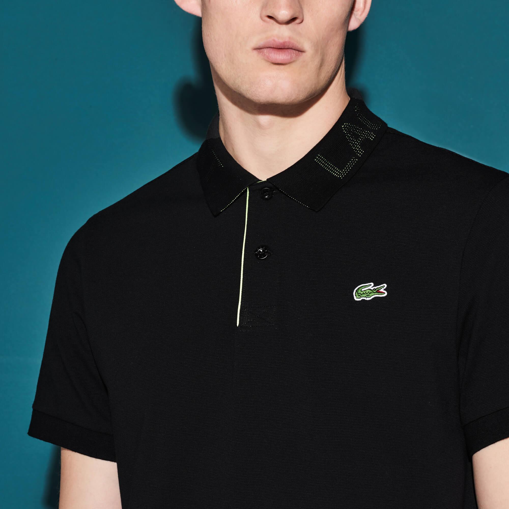 Lacoste Erkek Ultra Hafif Siyah Tenis Polo
