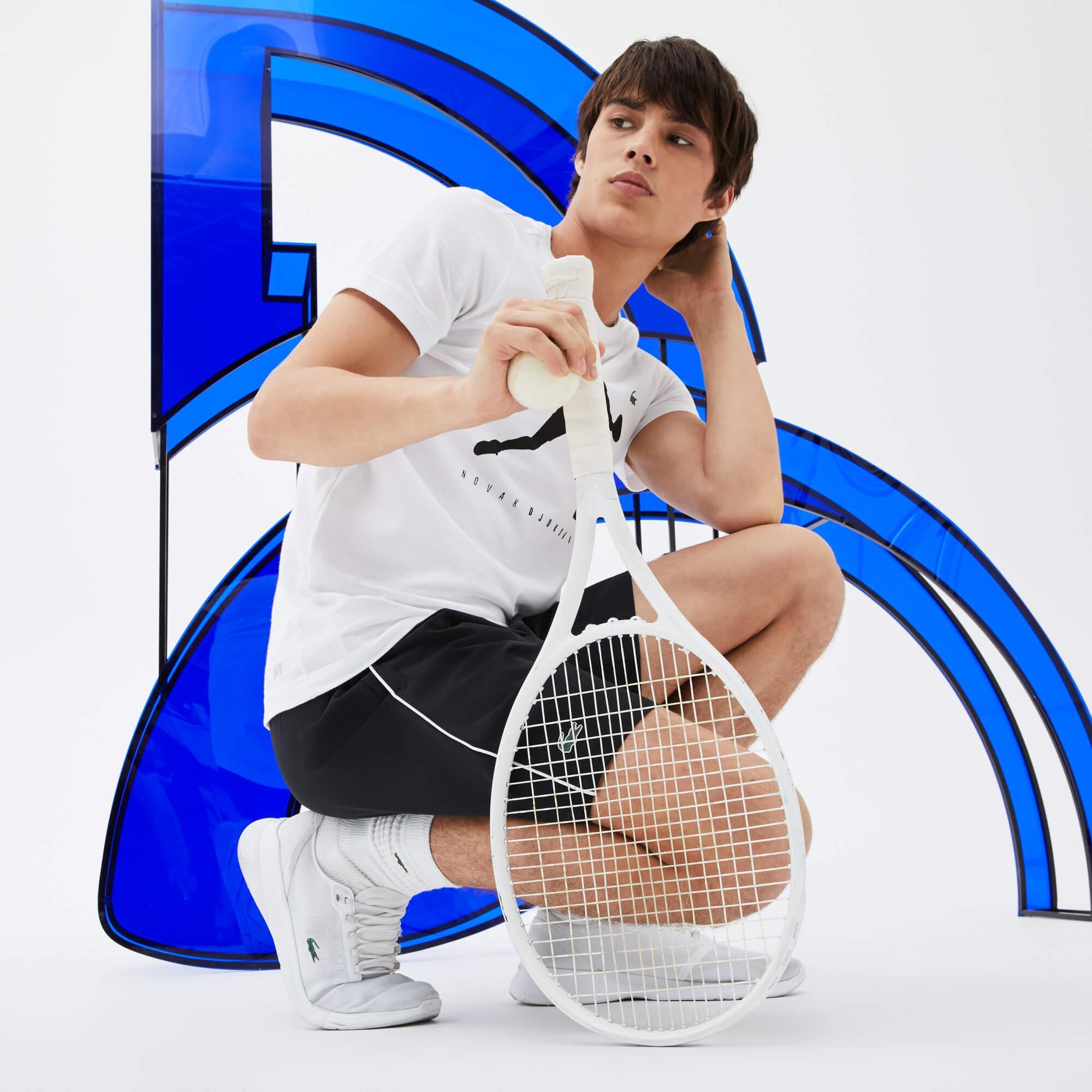 Lacoste Erkek Novak Djokovic Beyaz T-Shirt