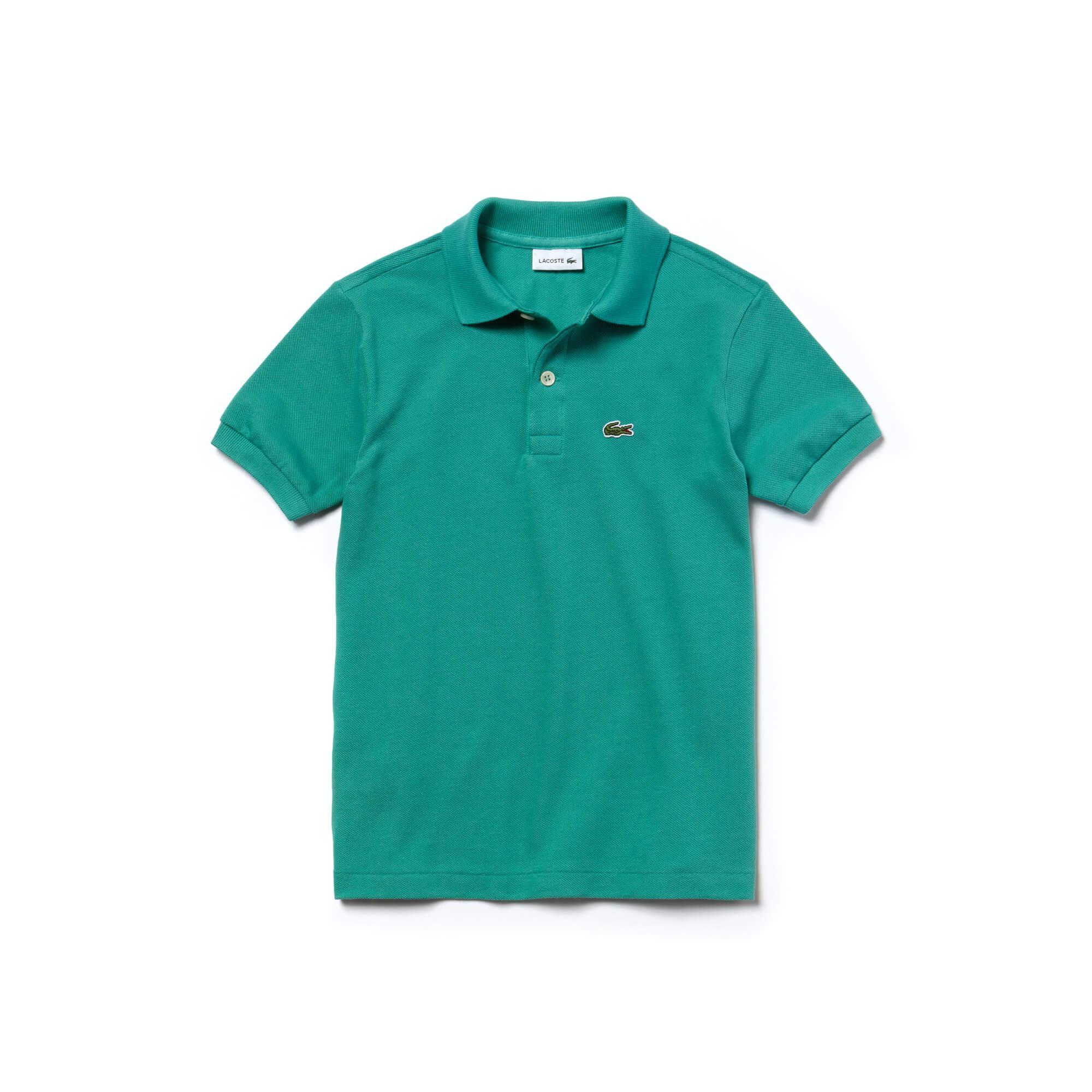 Lacoste Çocuk Yeşil Klasik Polo