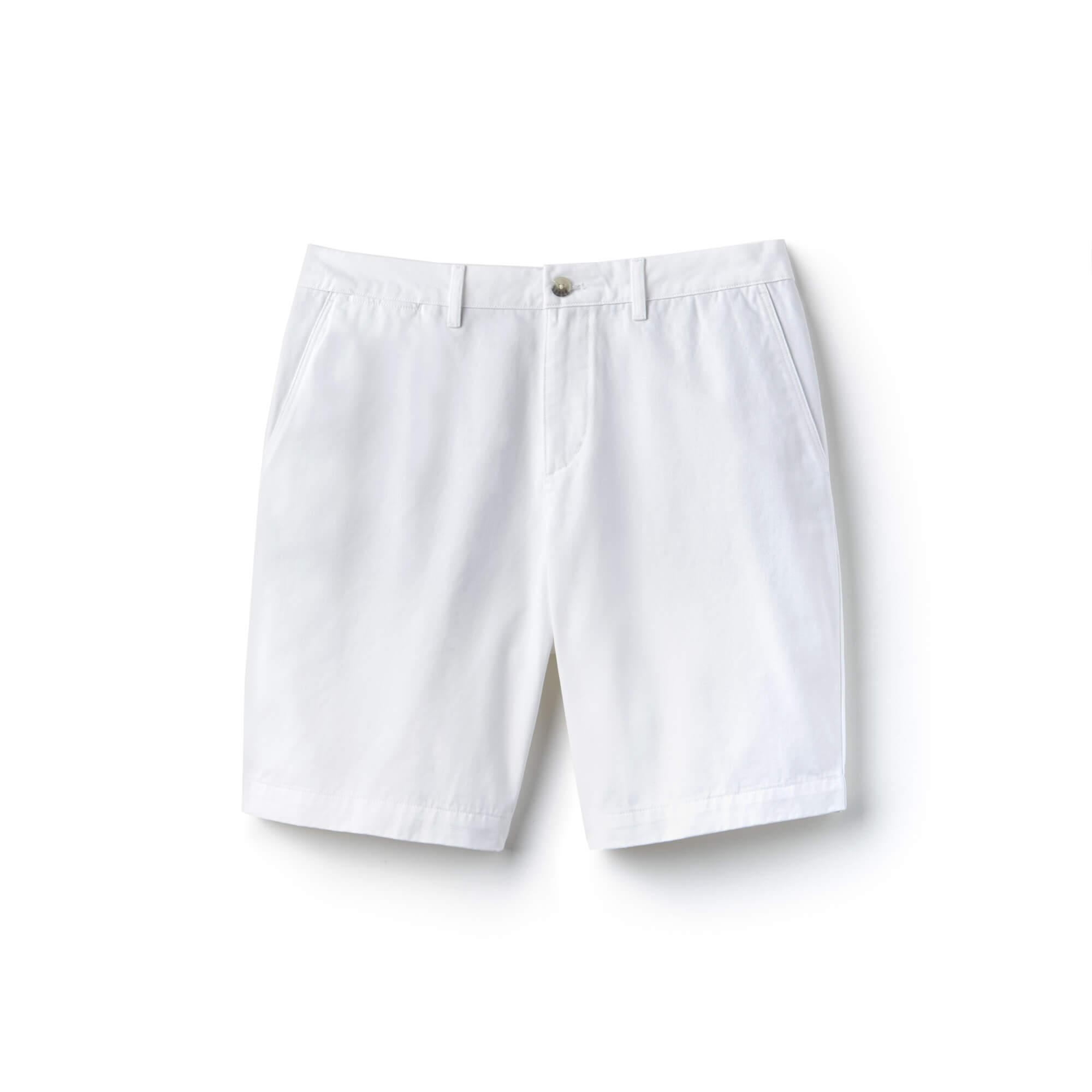 Lacoste Erkek Beyaz Bermuda