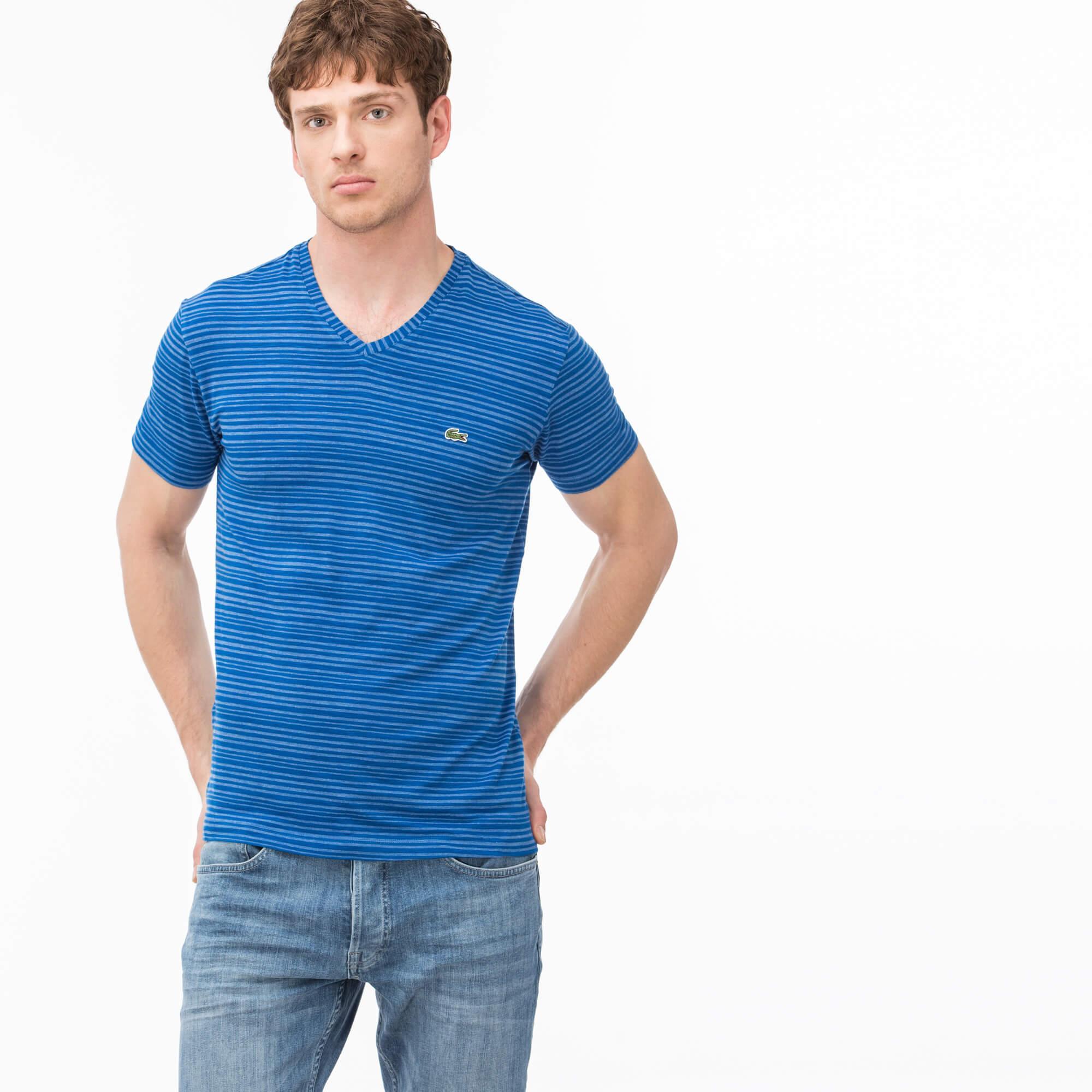 Lacoste Erkek Slim Fit Mavi T-Shirt