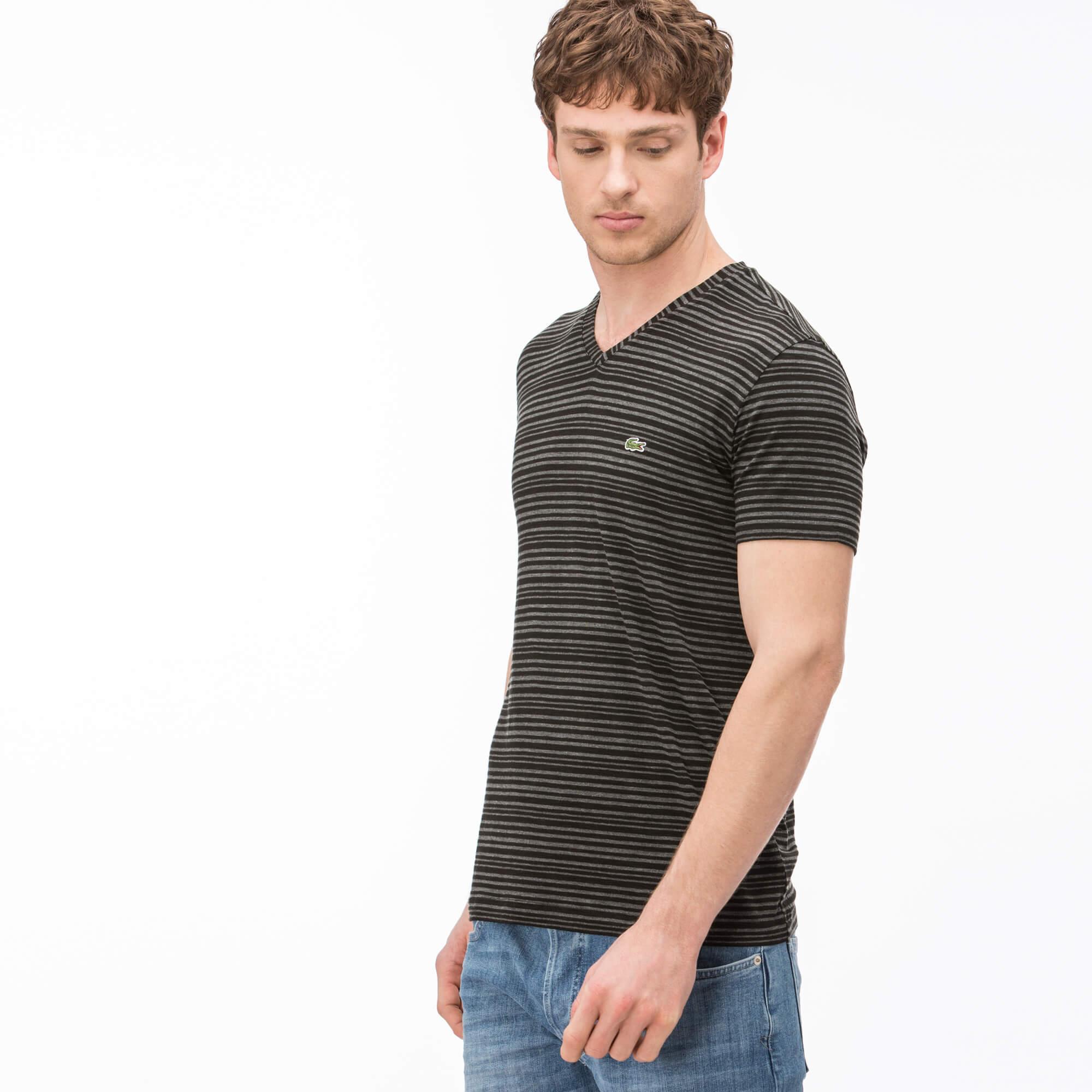 Lacoste Erkek Slim Fit Siyah T-Shirt