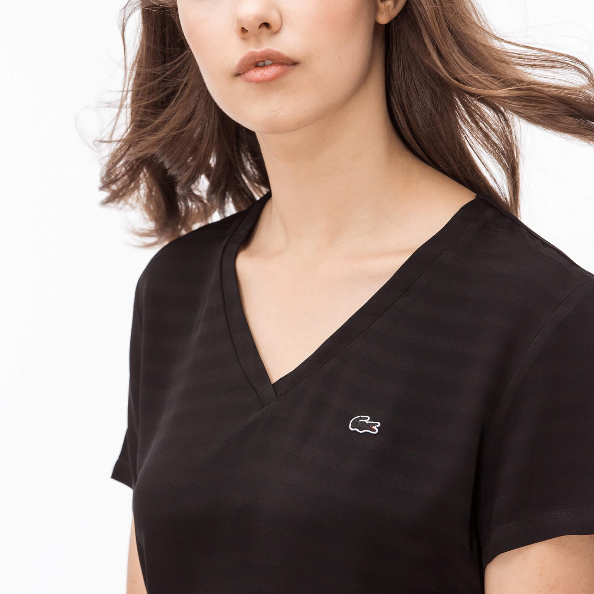 Lacoste Kadın Siyah Bluz