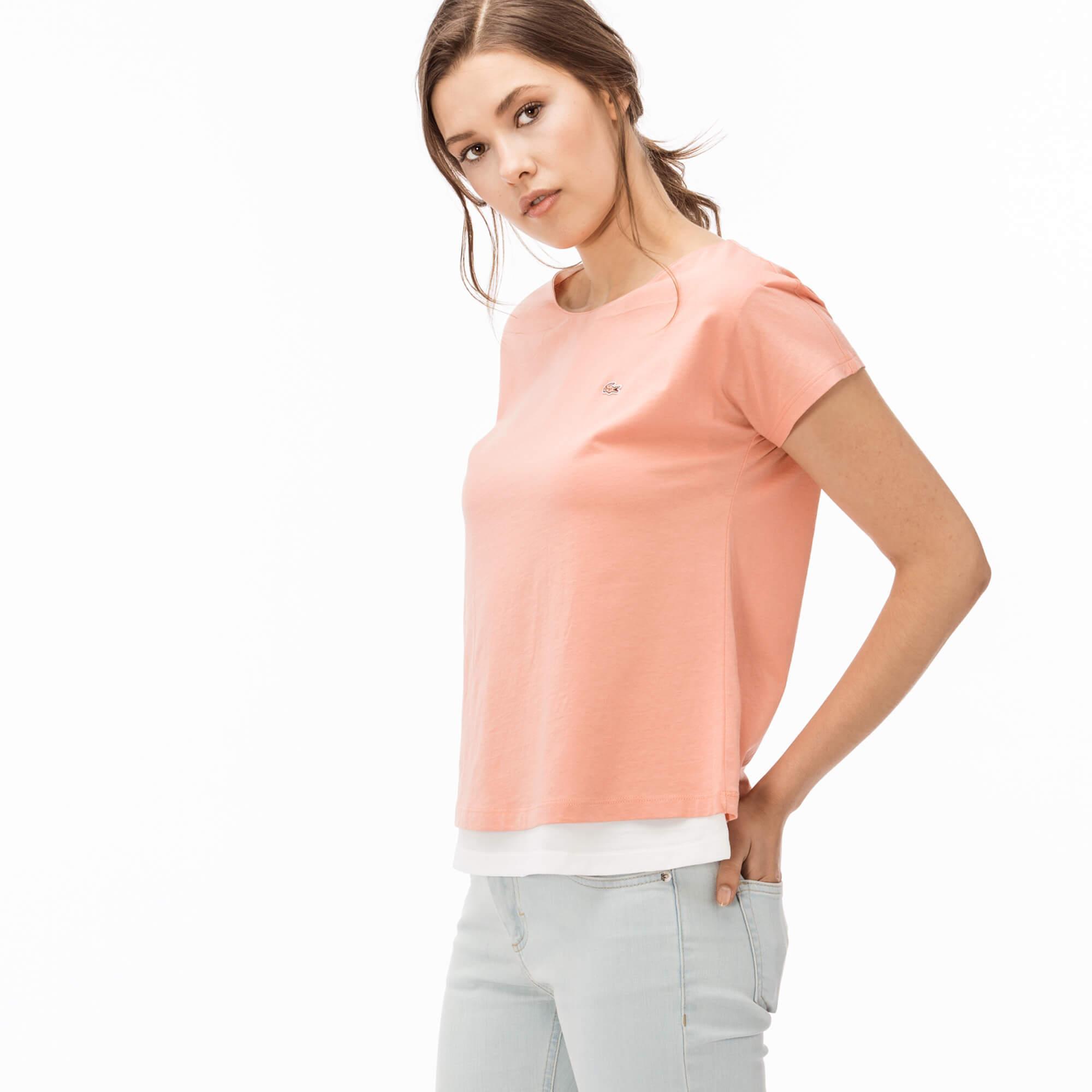 Lacoste Kadın Pembe T-Shirt