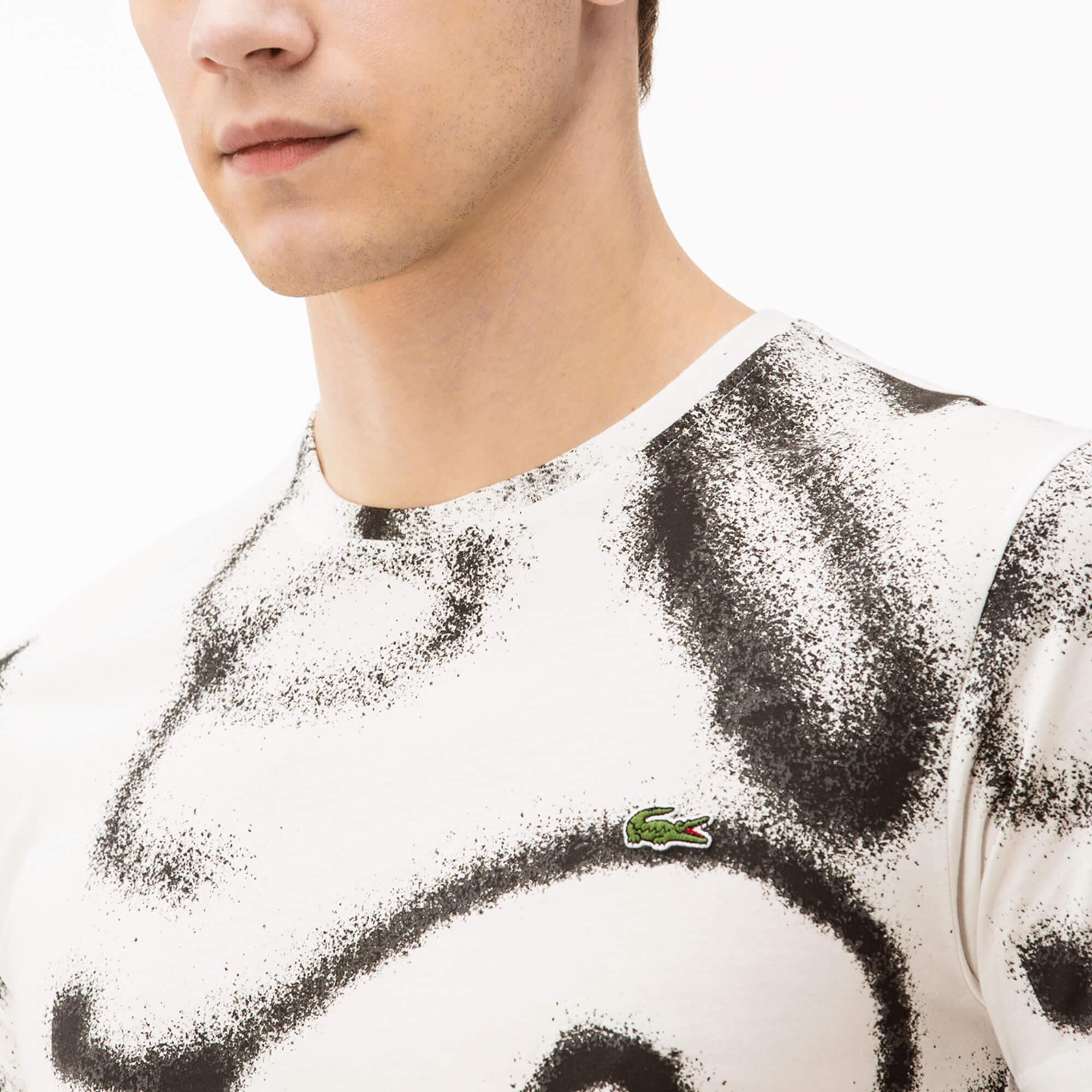 Lacoste Erkek Regular Fit Bej T-Shirt