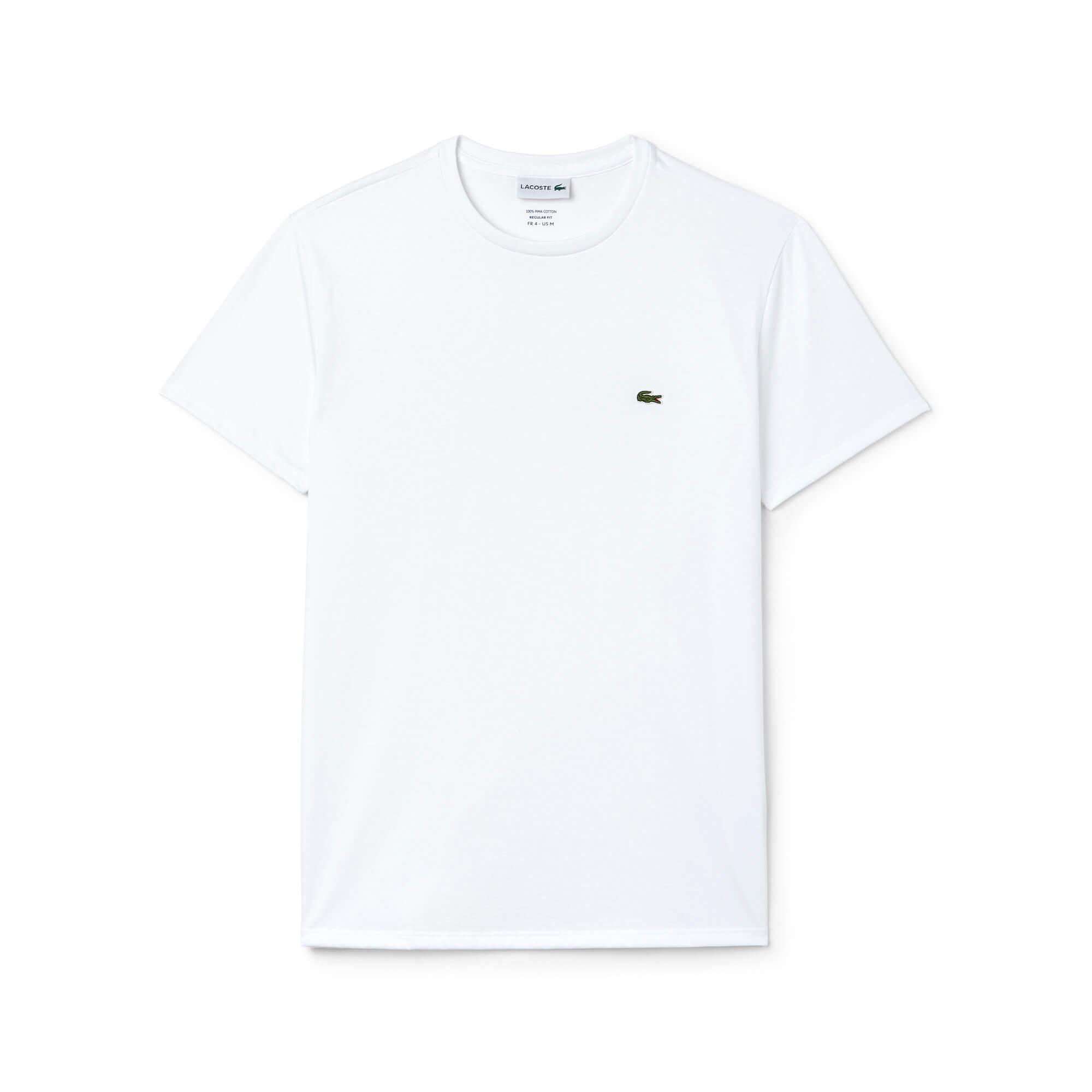 Lacoste Erkek Regular Fit Beyaz T-Shirt