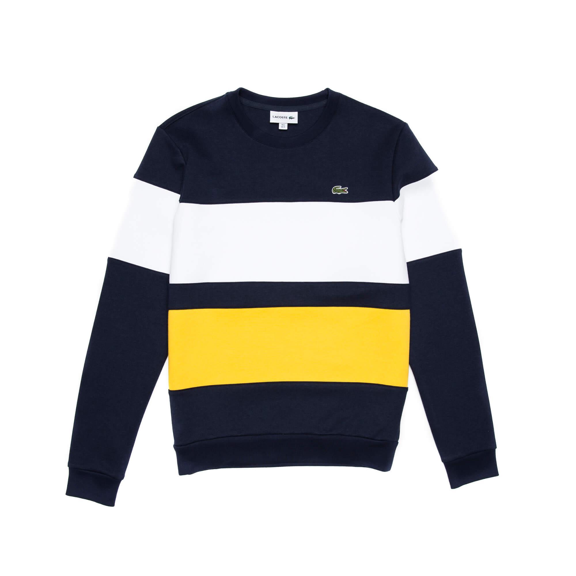 Lacoste Erkek Renk Şeritli Sweatshirt