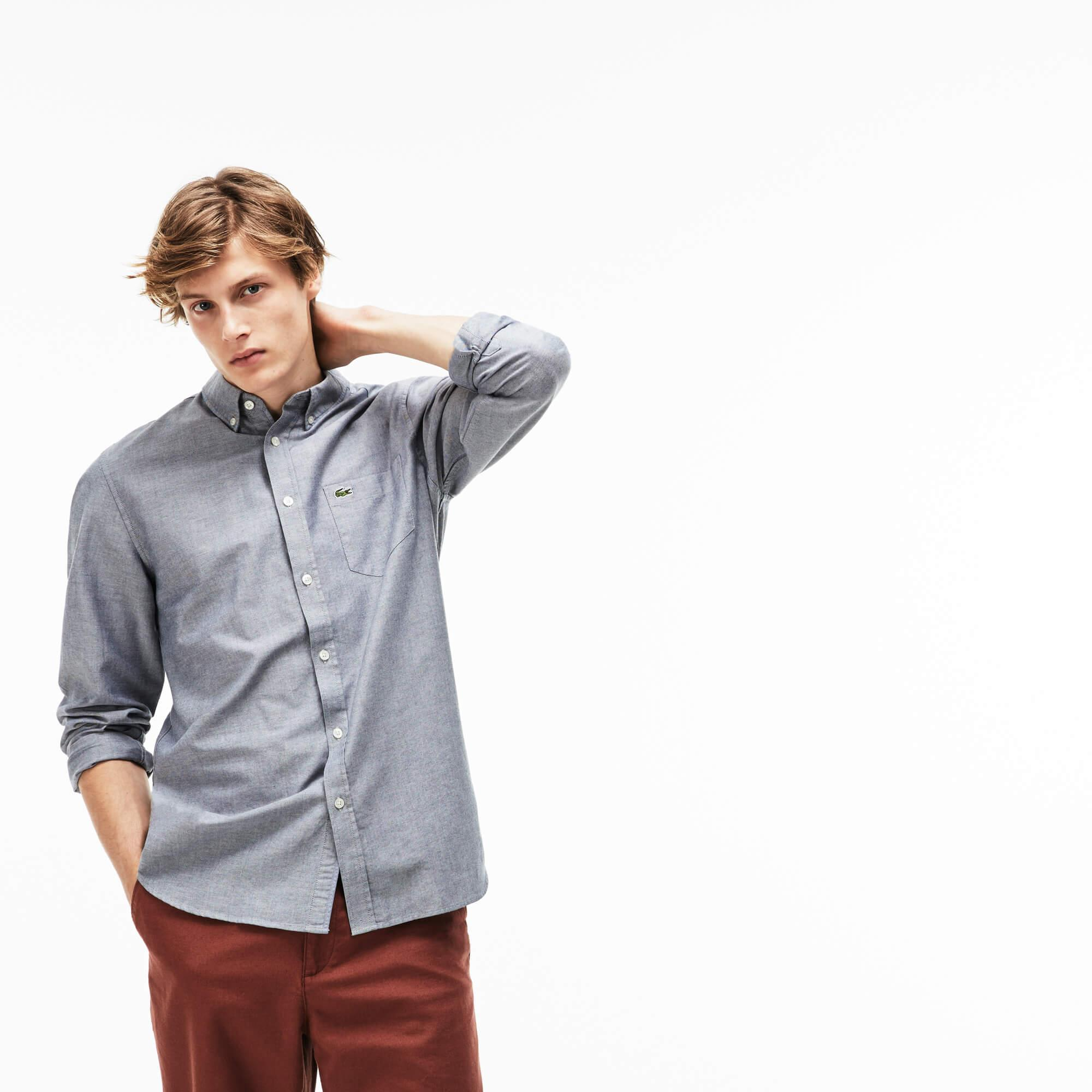 Lacoste Erkek Lacivert Oxford Gömlek