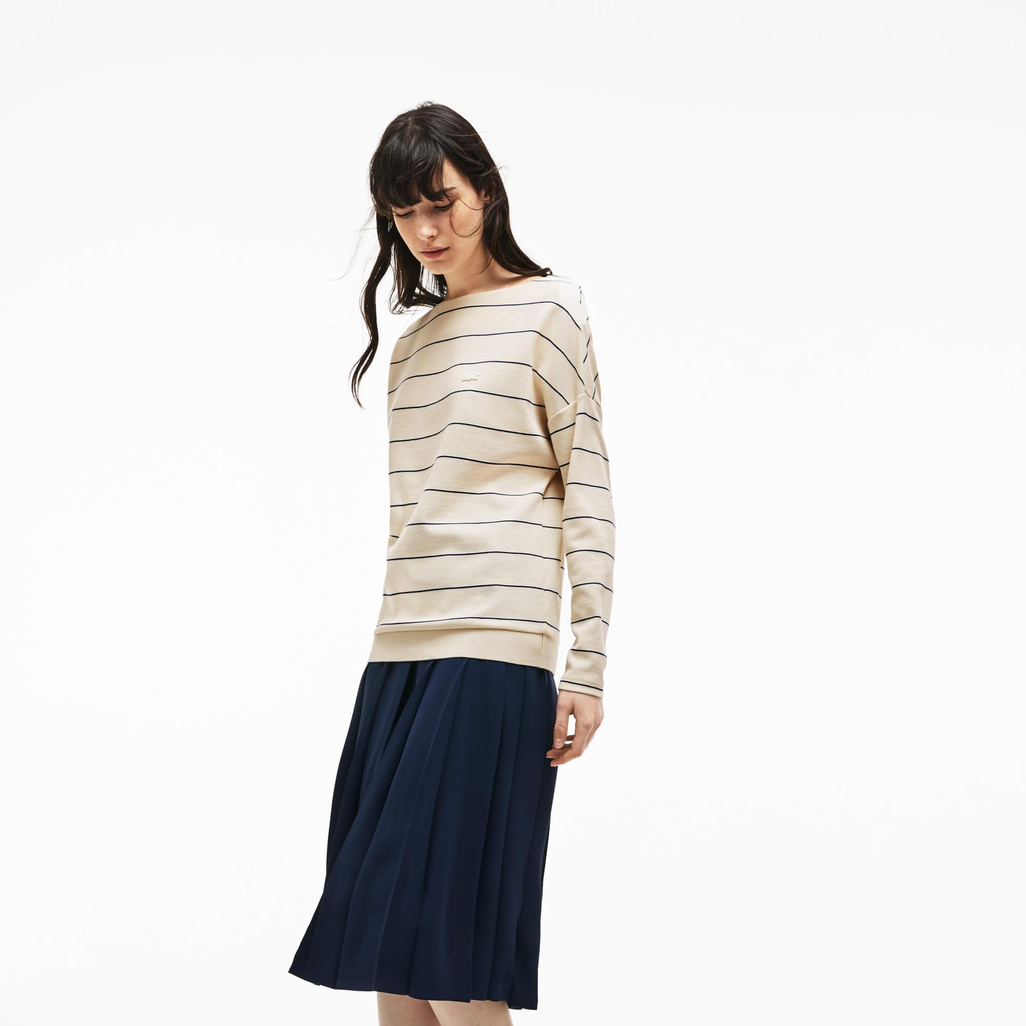 Lacoste Kadın Krem Rengi Sweatshirt