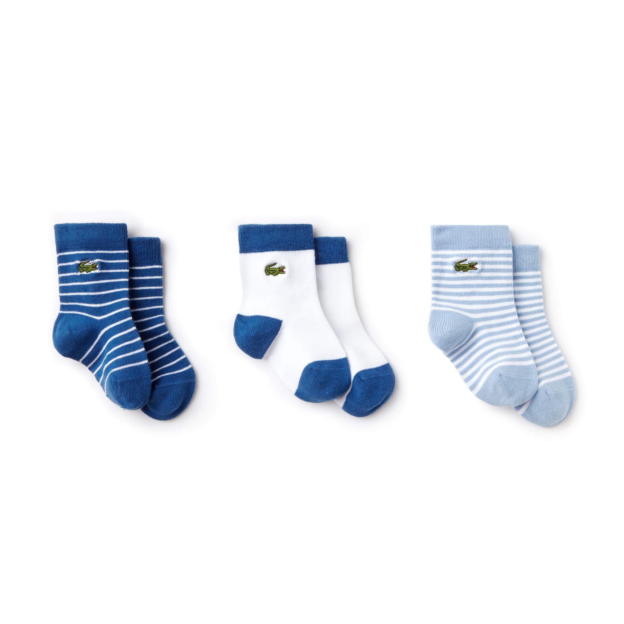 Lacoste Unisex Pembe-Lacivert Çorap
