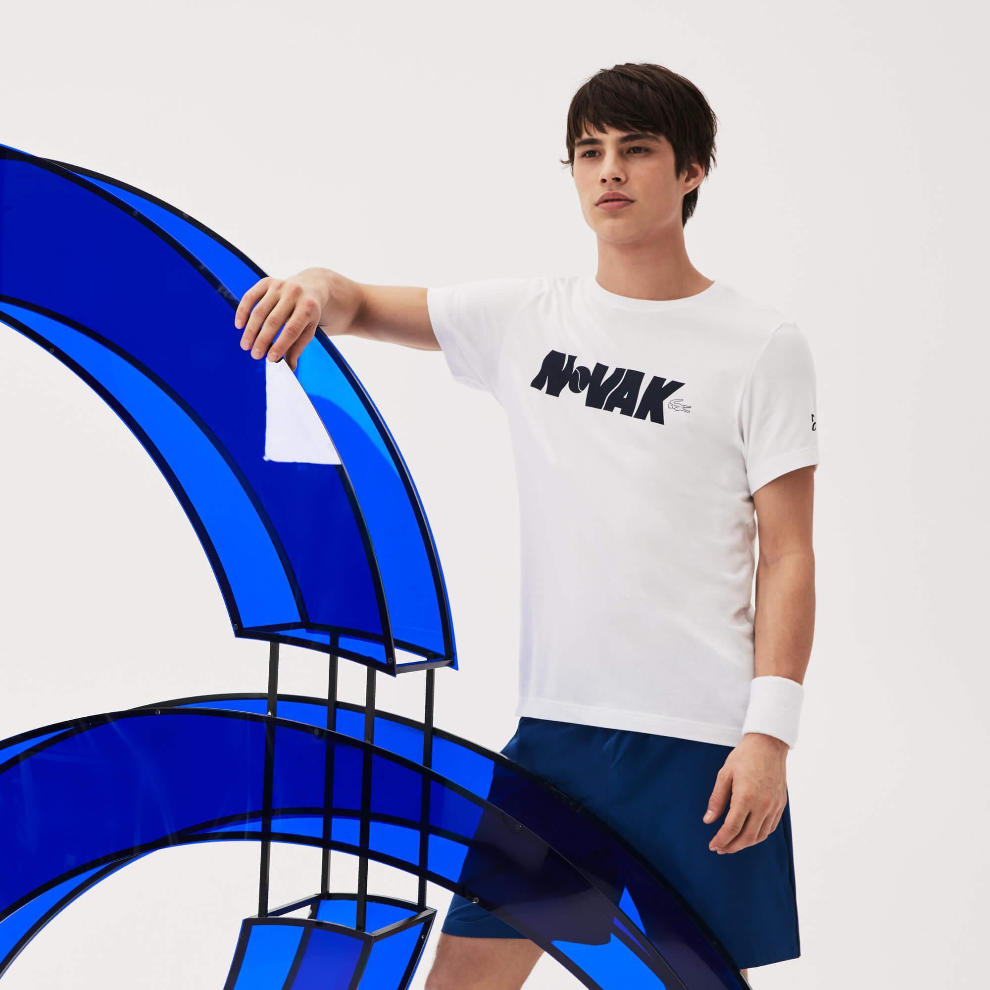 Lacoste Erkek Novak Djokoviç Beyaz T-Shirt
