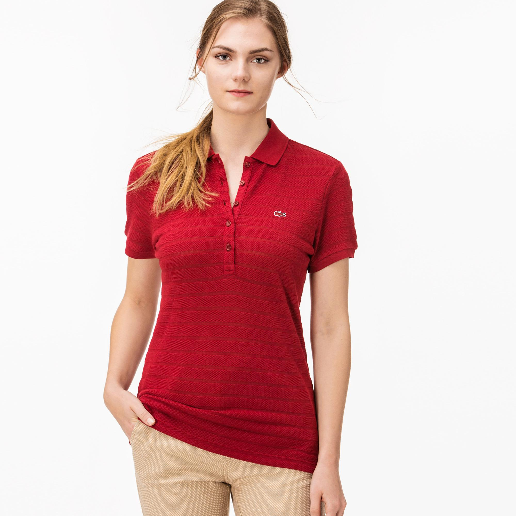 Lacoste Kadın Kırmızı Polo