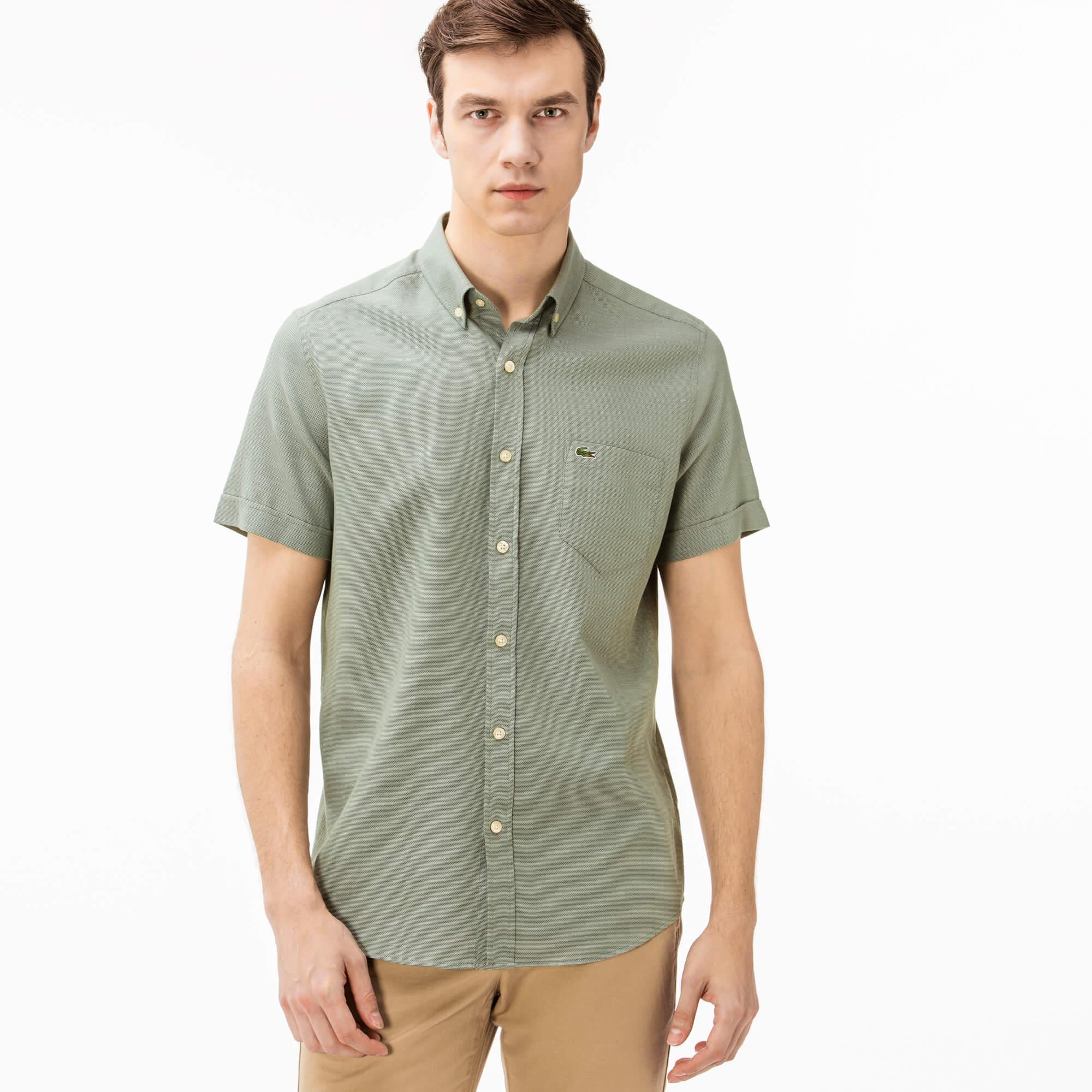 Erkek Regular Fit Yeşil Gömlek