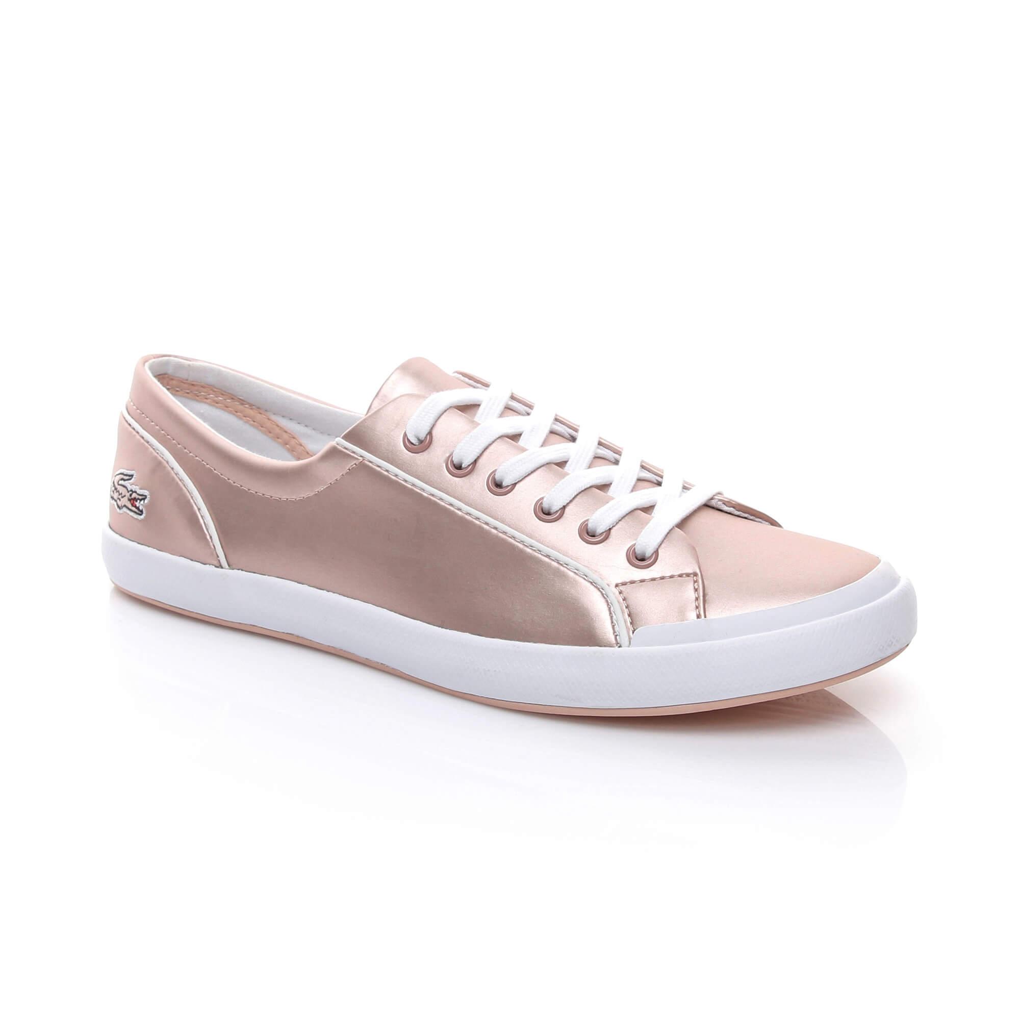 b25a229c1c965 Lacoste Pembe Günlük Desensiz Kadın Günlük Ayakkabı