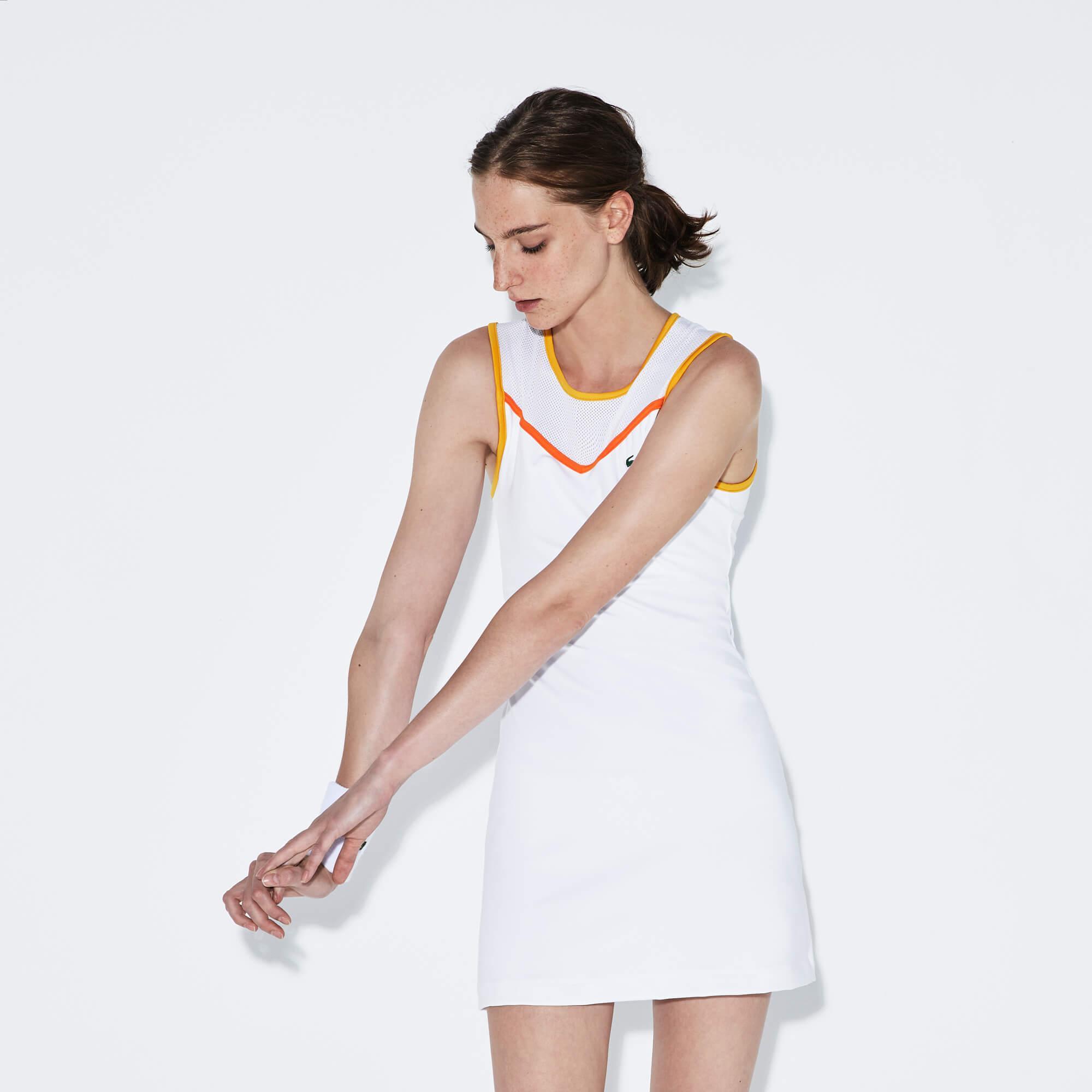 Lacoste Sport Beyaz Tenis Elbise