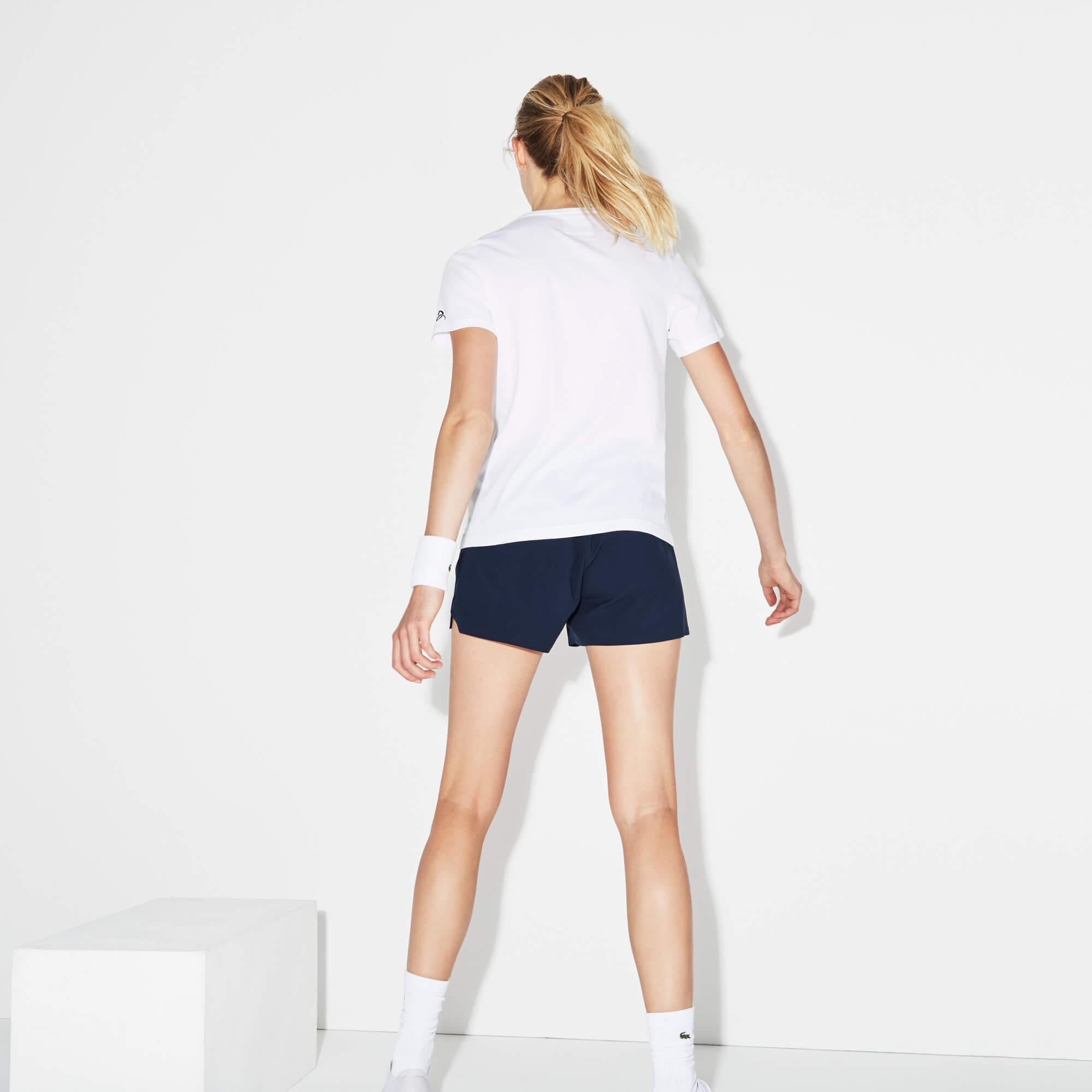 Lacoste Kadın Novak Djokovic Beyaz T-Shirt